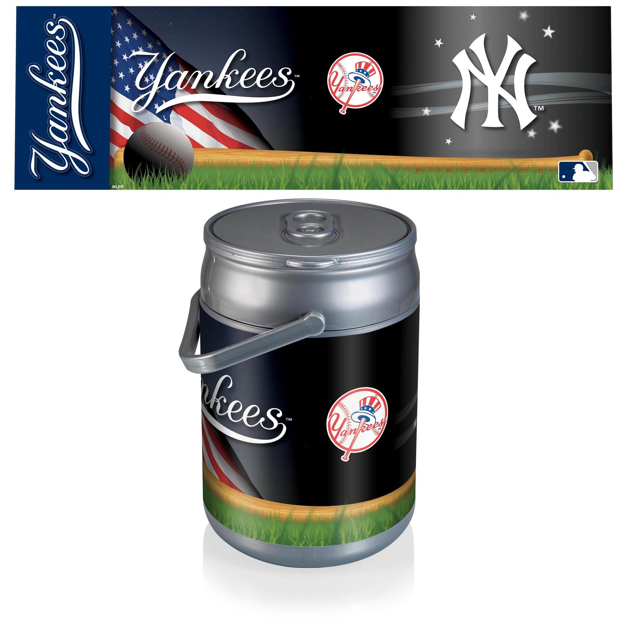New York Yankees Diagonal Can Cooler