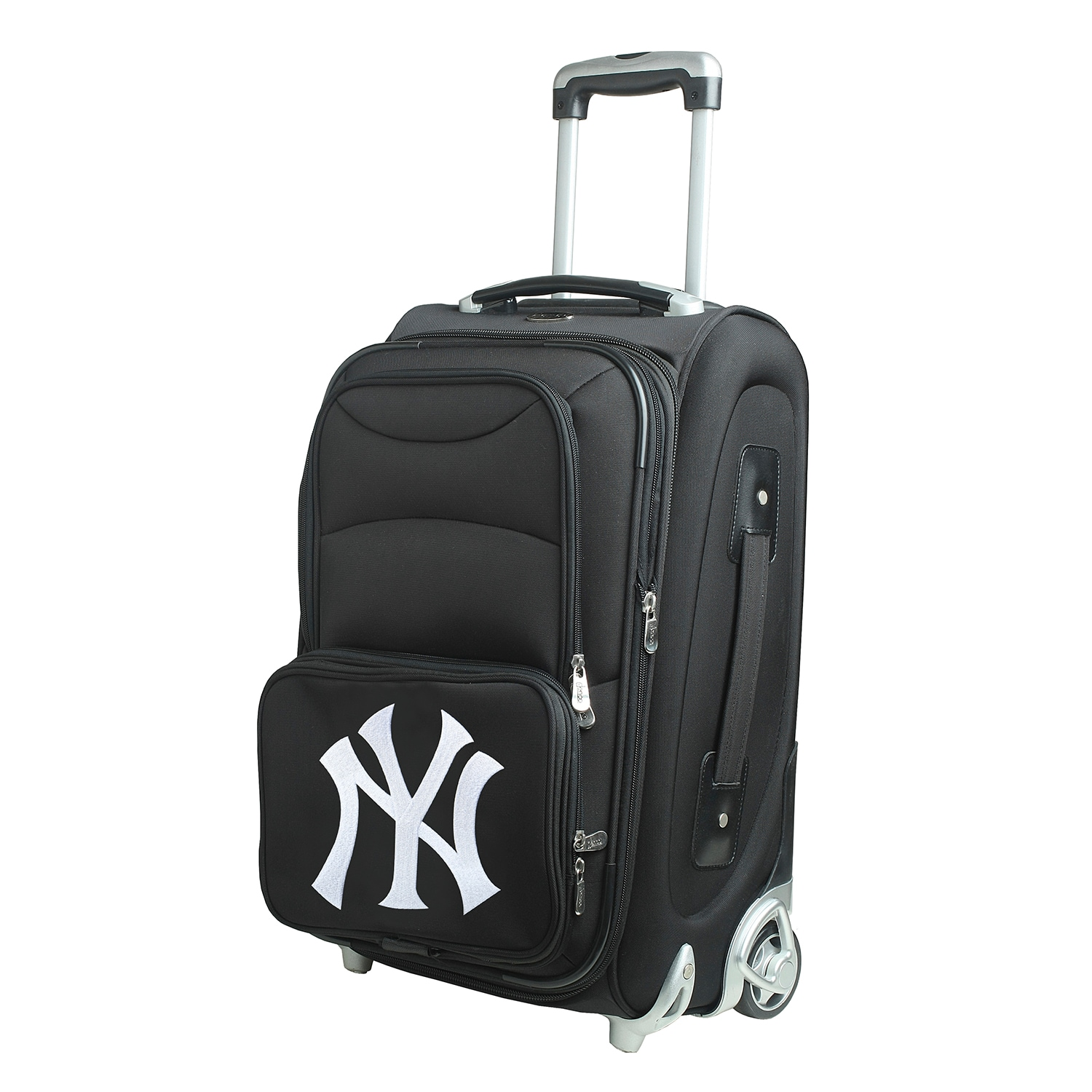 """New York Yankees 21"""" Rolling Carry-On Suitcase"""