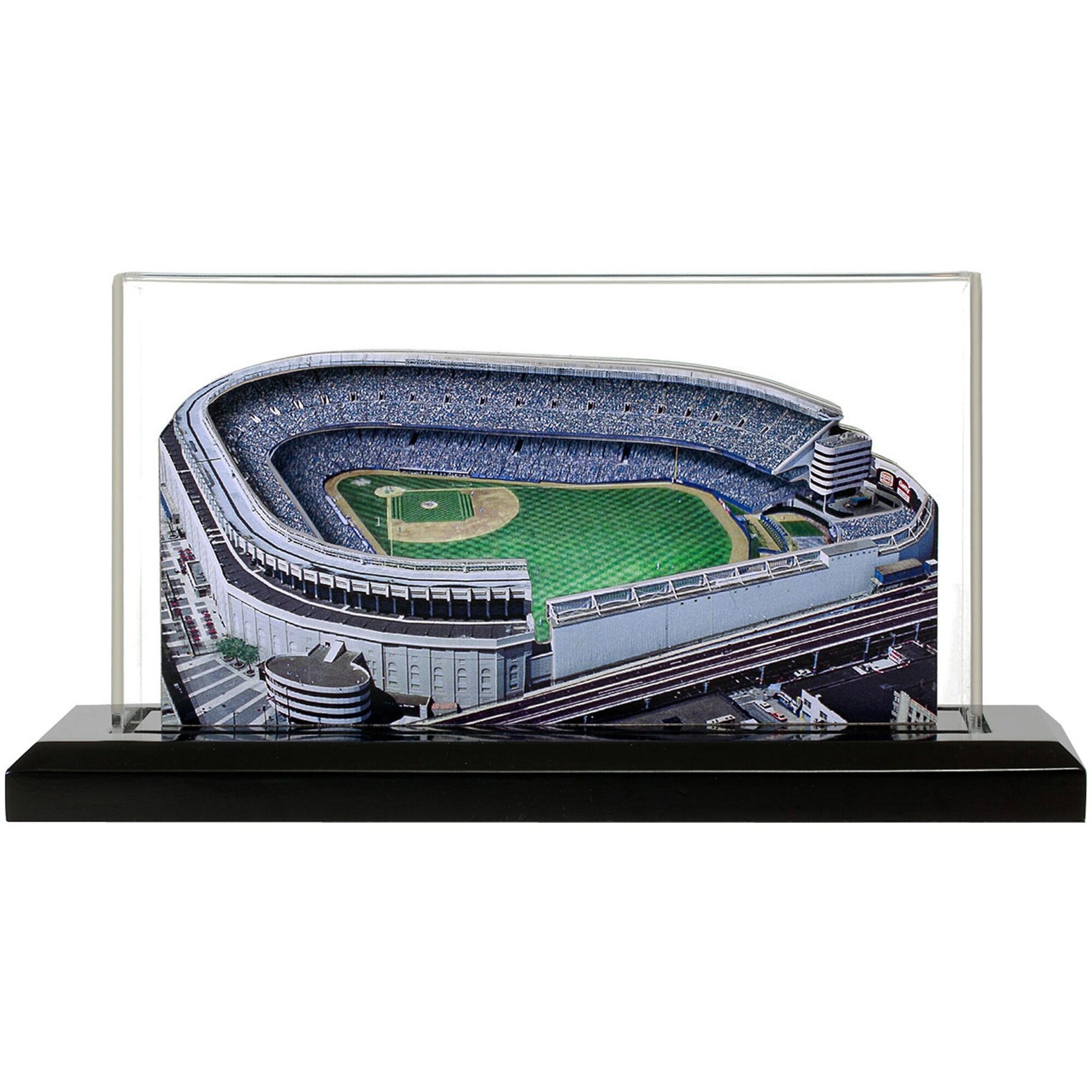 """New York Yankees 13"""" x 6"""" Yankee Stadium Renovated 1976-2008 Light Up Replica Ballpark"""