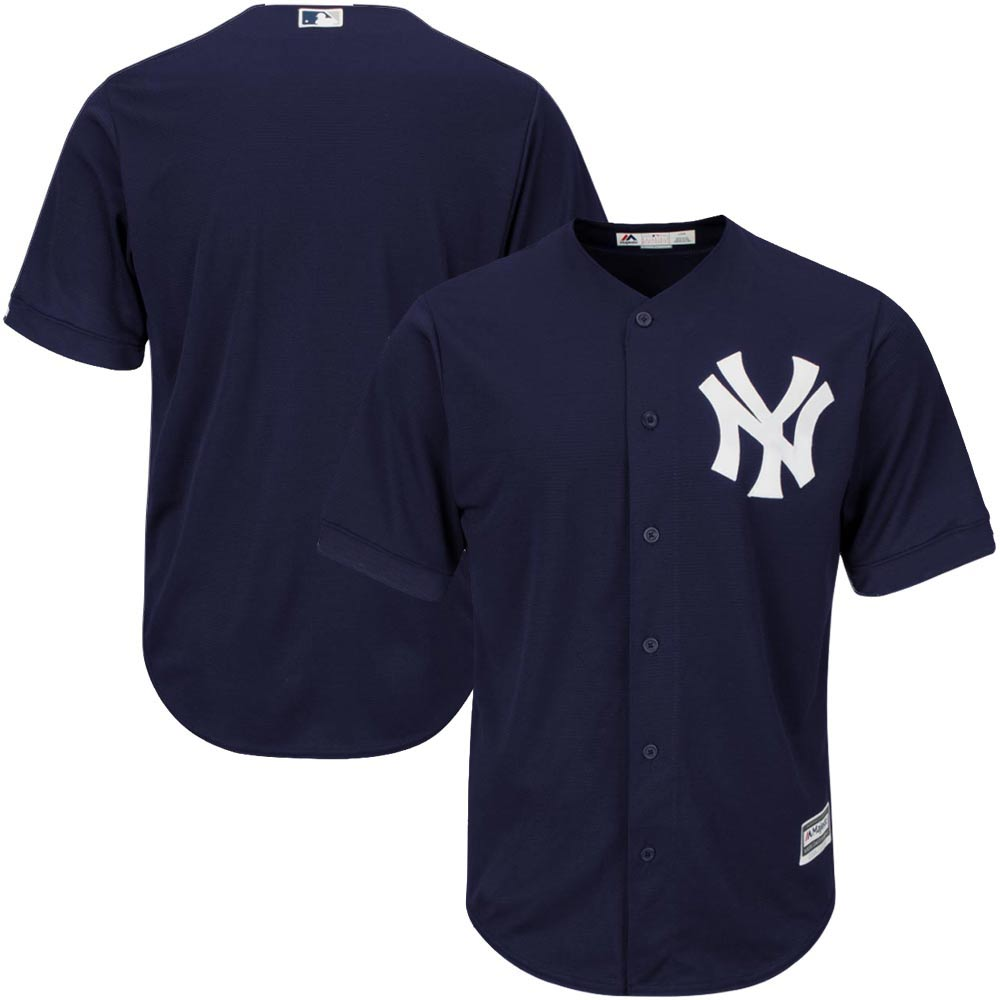 New York Yankees Majestic Official Cool Base Jersey - Navy -