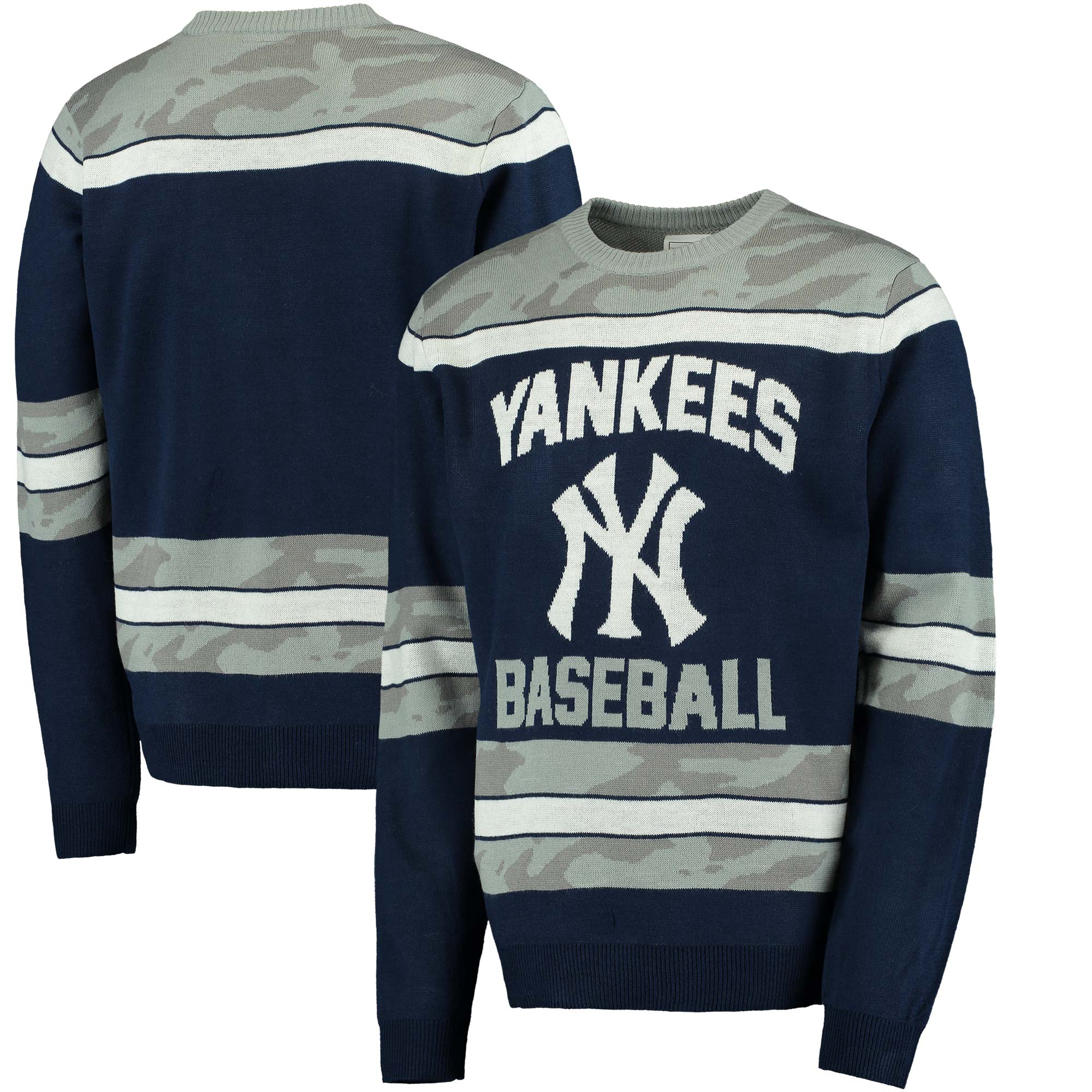 New York Yankees Camouflage Team Sweater - Navy