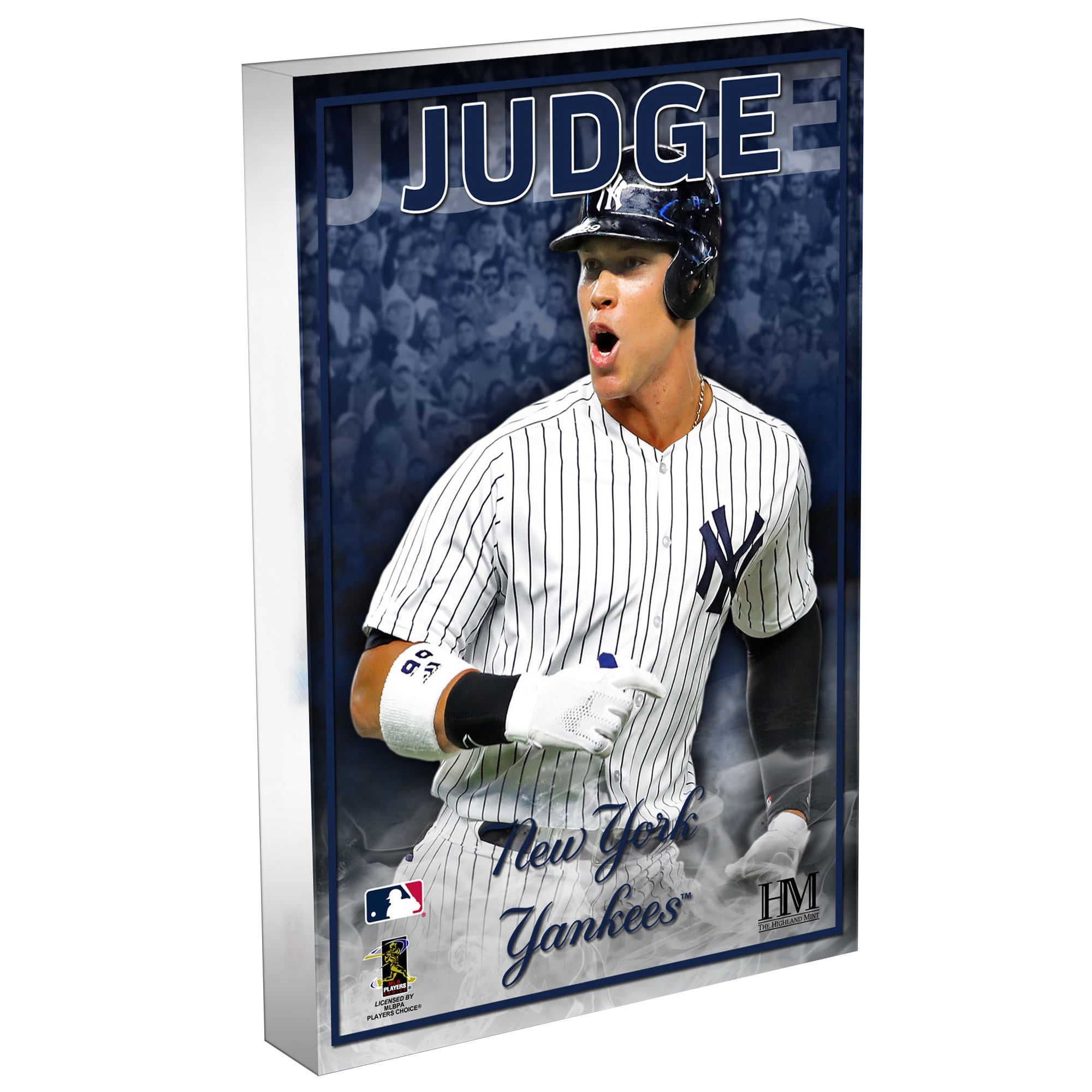 Aaron Judge New York Yankees Highland Mint 3D Acrylic Blockart