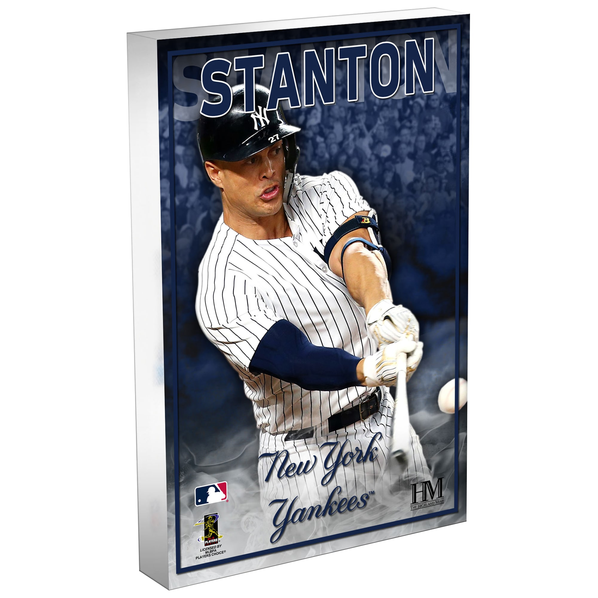 Giancarlo Stanton New York Yankees Highland Mint 3D Acrylic Blockart