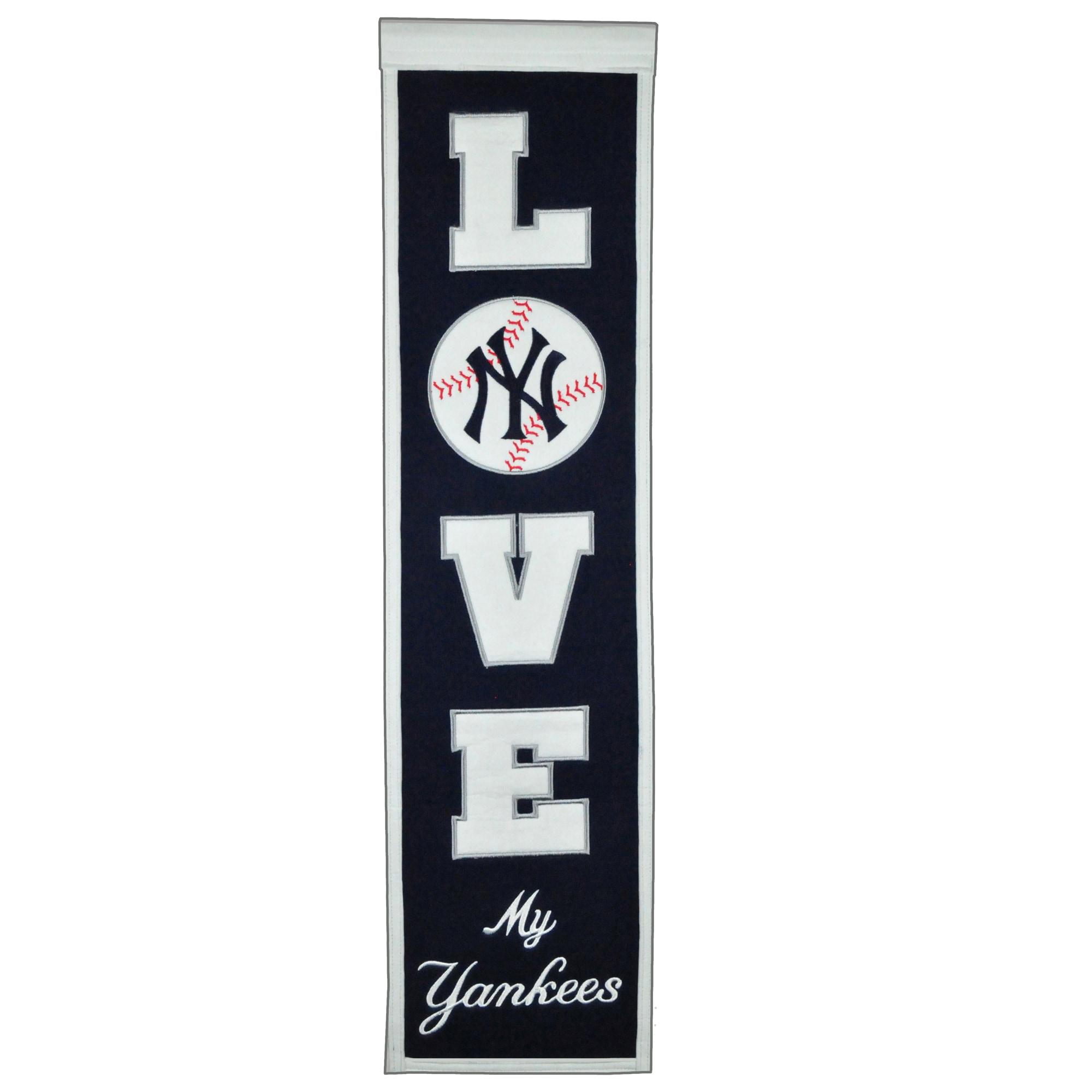 New York Yankees 8'' x 32'' Love Banner