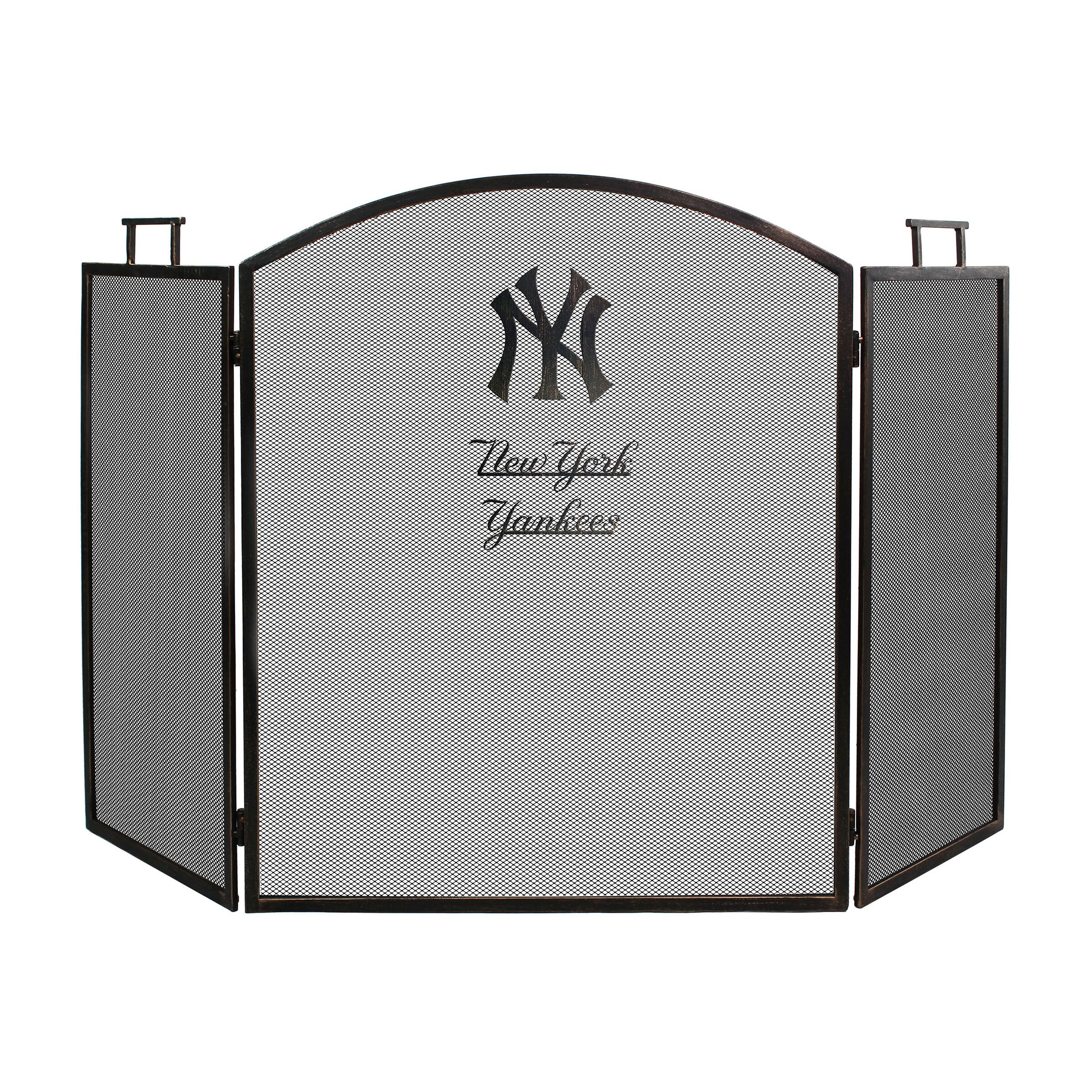 New York Yankees Imperial Fireplace Screen - Brown