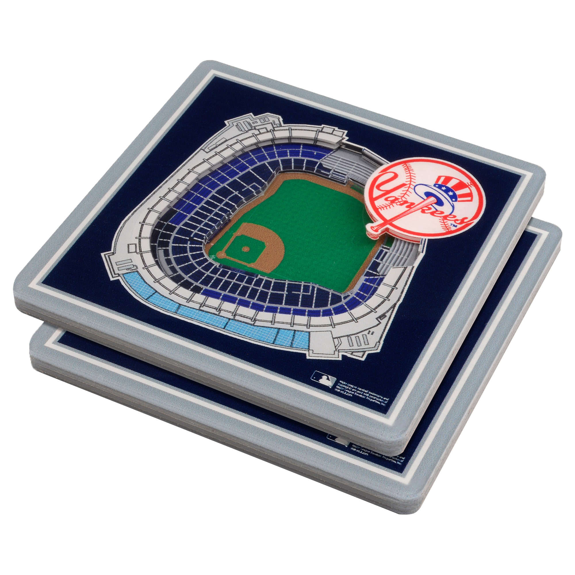 New York Yankees 3D StadiumViews Coasters - Blue