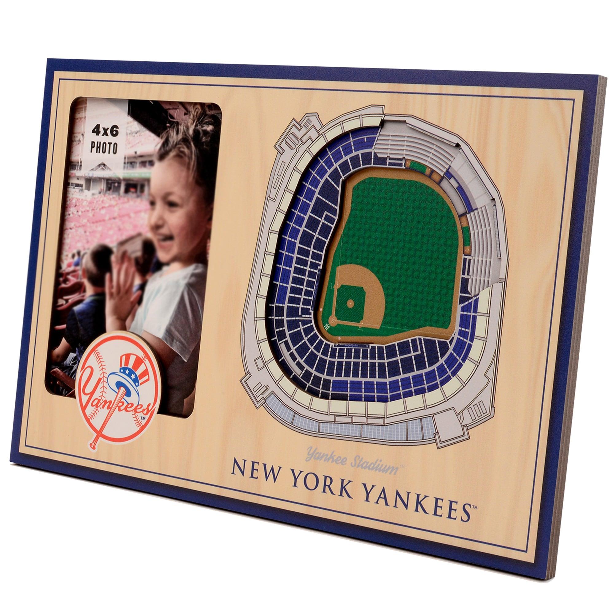 New York Yankees 3D StadiumViews Picture Frame - Brown