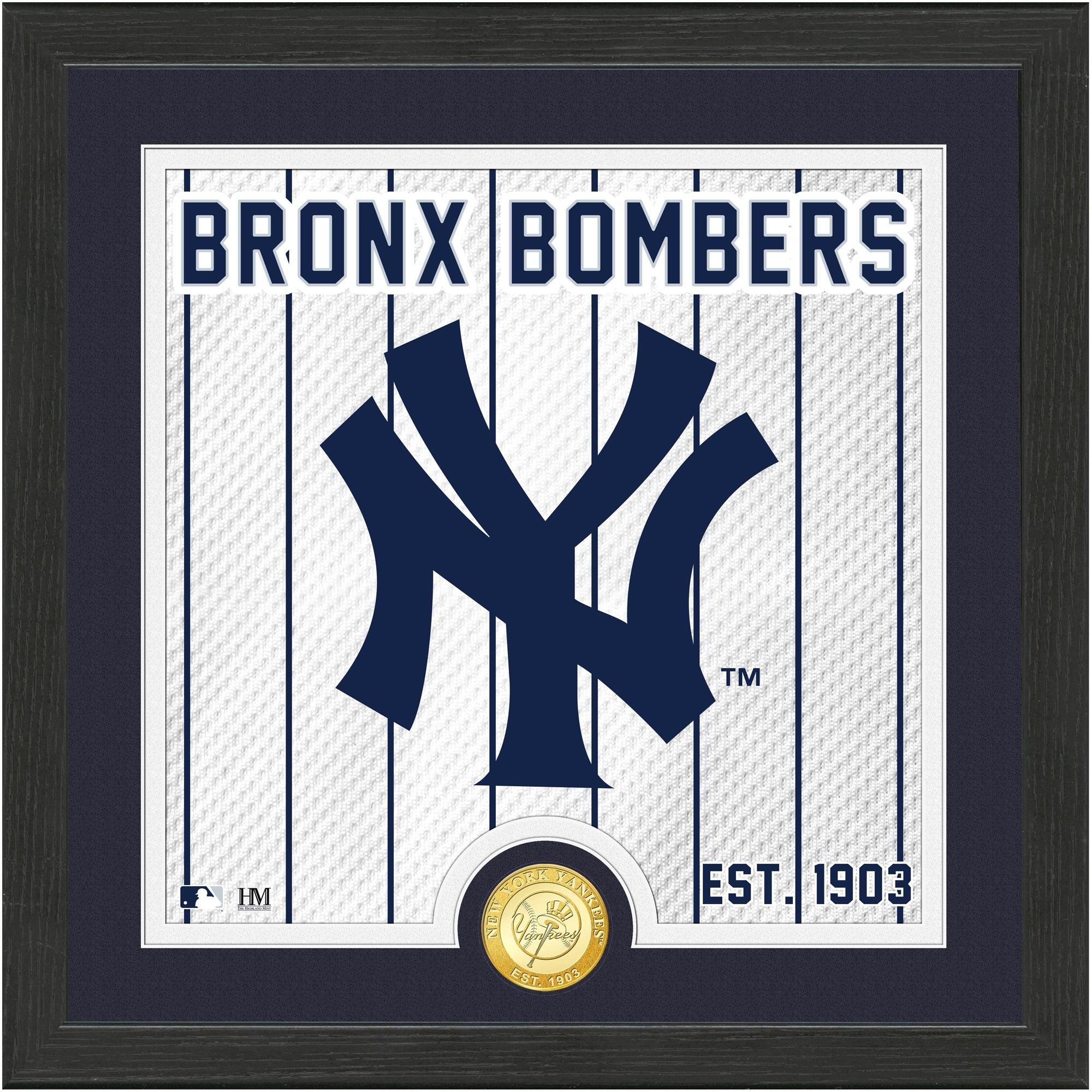 New York Yankees Highland Mint 13'' x 13'' Battle Cry Bronze Coin Photo Mint