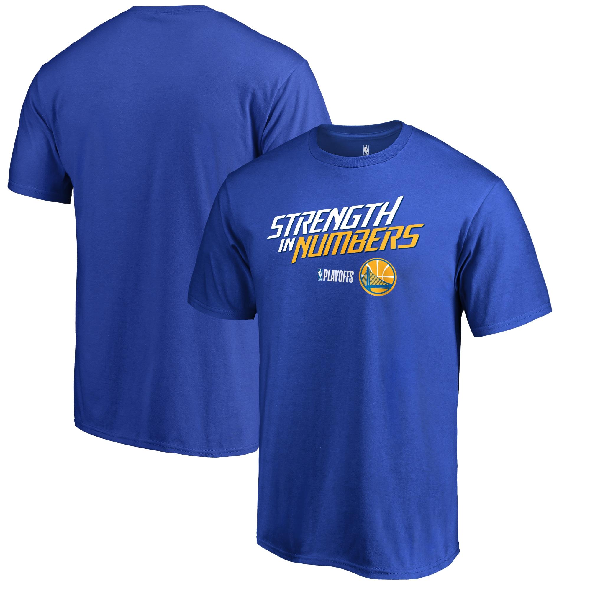 Golden State Warriors Fanatics Branded 2018 NBA Playoffs Slogan Big & Tall T-Shirt - Blue