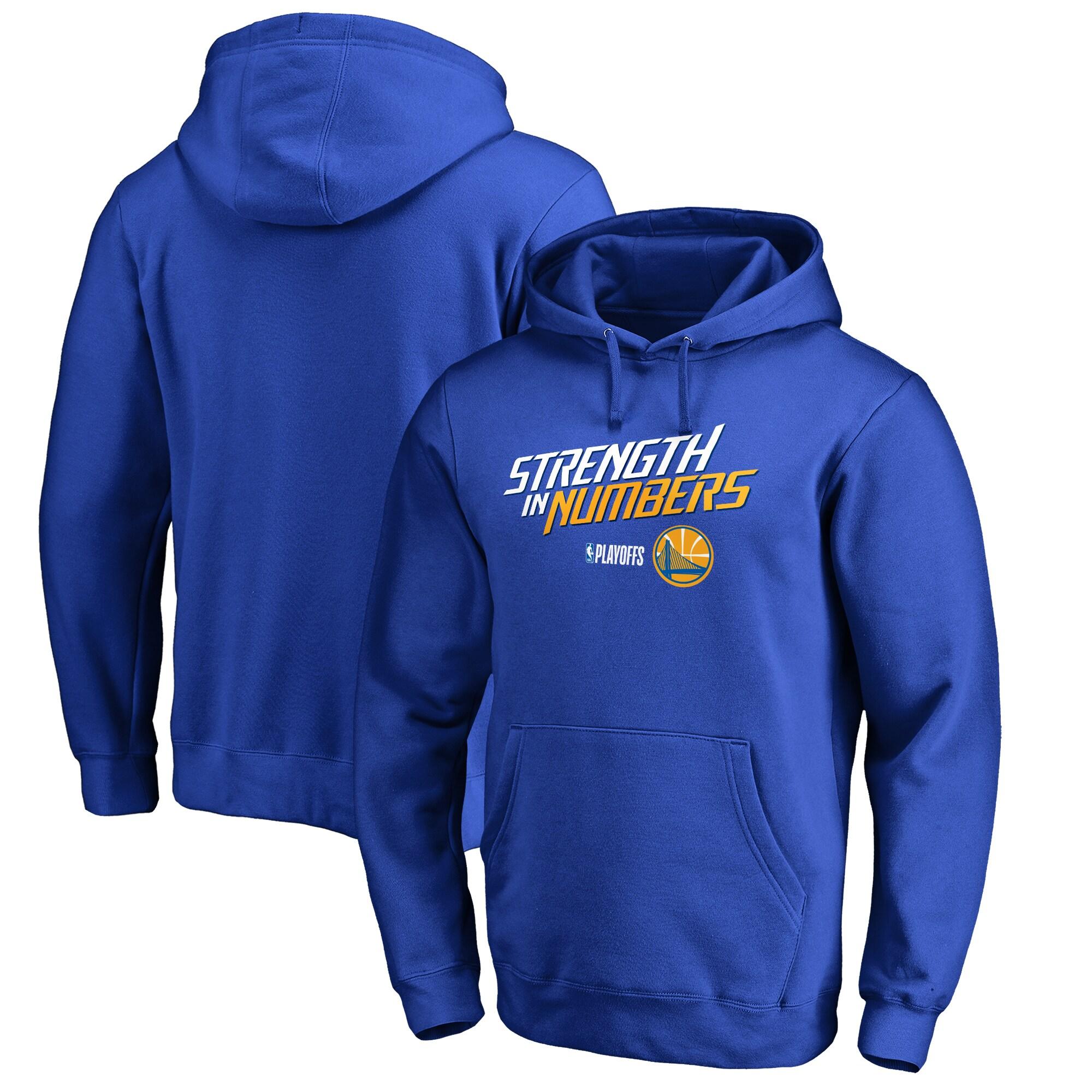 Golden State Warriors Fanatics Branded 2018 NBA Playoffs Slogan Pullover Hoodie - Royal