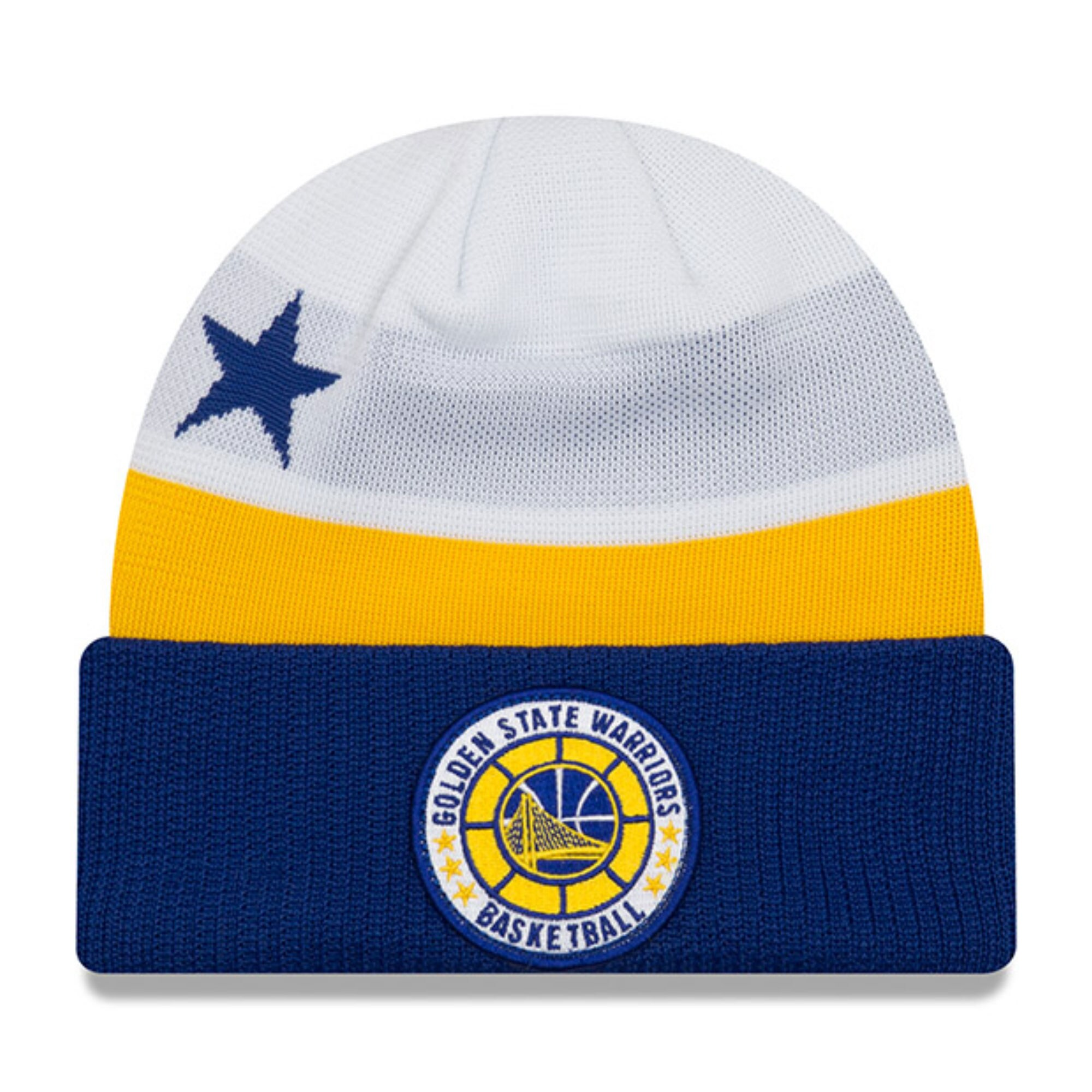 Golden State Warriors New Era 2018 Tip Off Series Cuffed Knit Hat - White