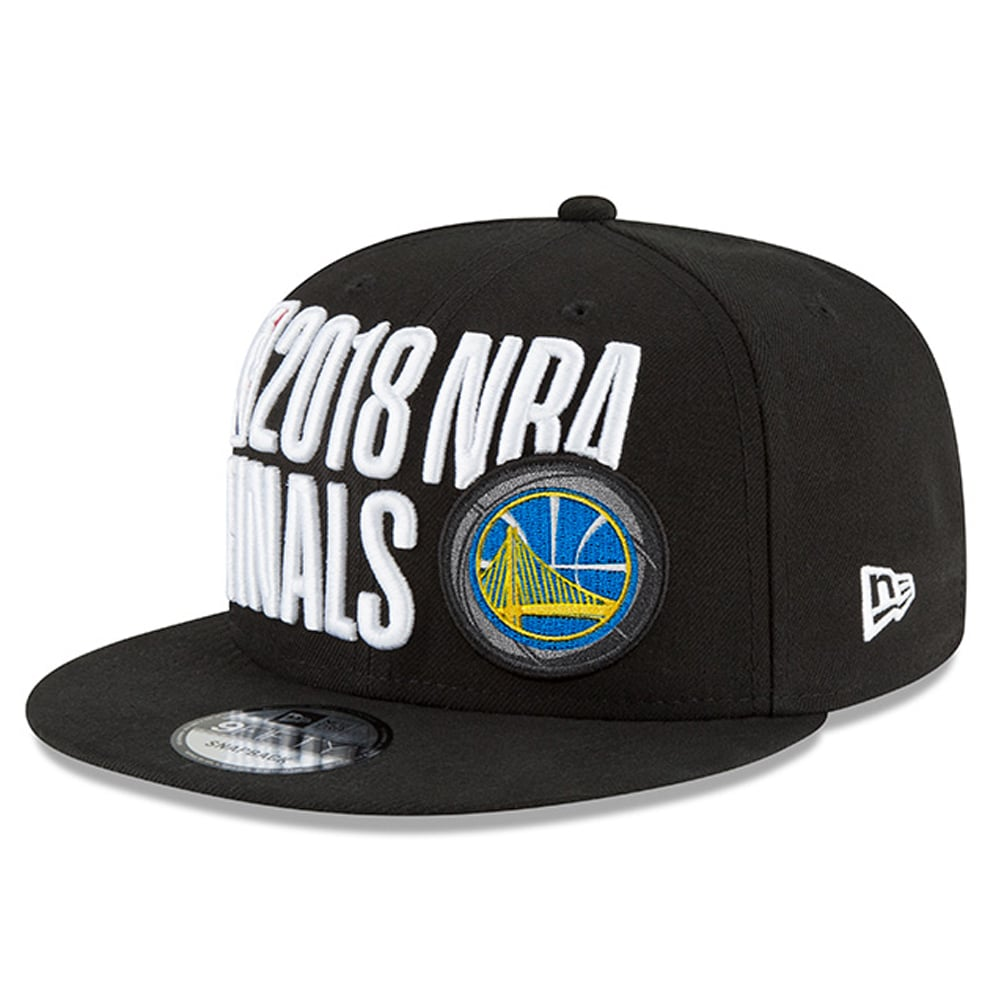 Golden State Warriors New Era 2018 Western Conference Champions Locker Room 9FIFTY Snapback Adjustable Hat - Black
