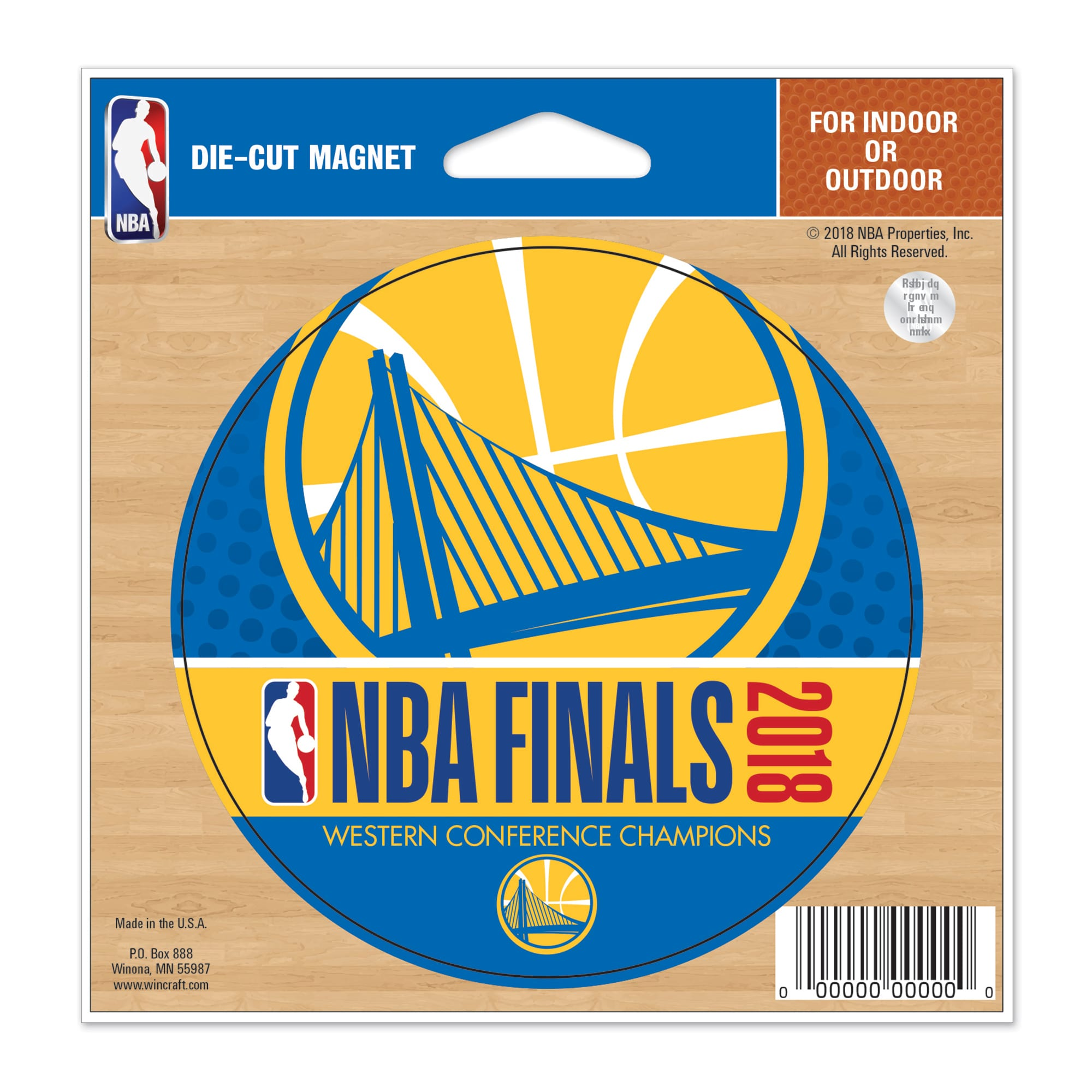 "Golden State Warriors WinCraft 2018 Western Conference Champions 5"" x 6"" Die-Cut Magnet"