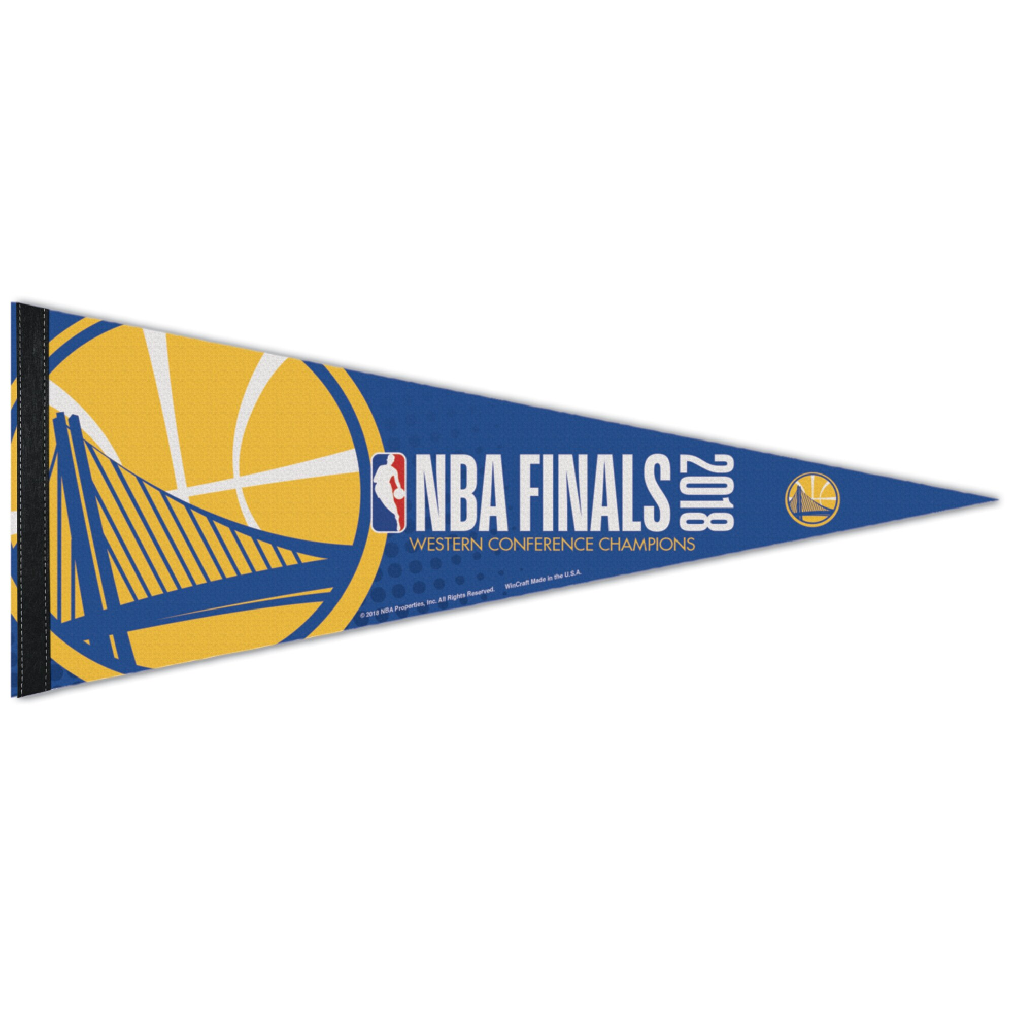 """Golden State Warriors WinCraft 2018 Western Conference Champions 12"""" x 30"""" Premium Pennant"""