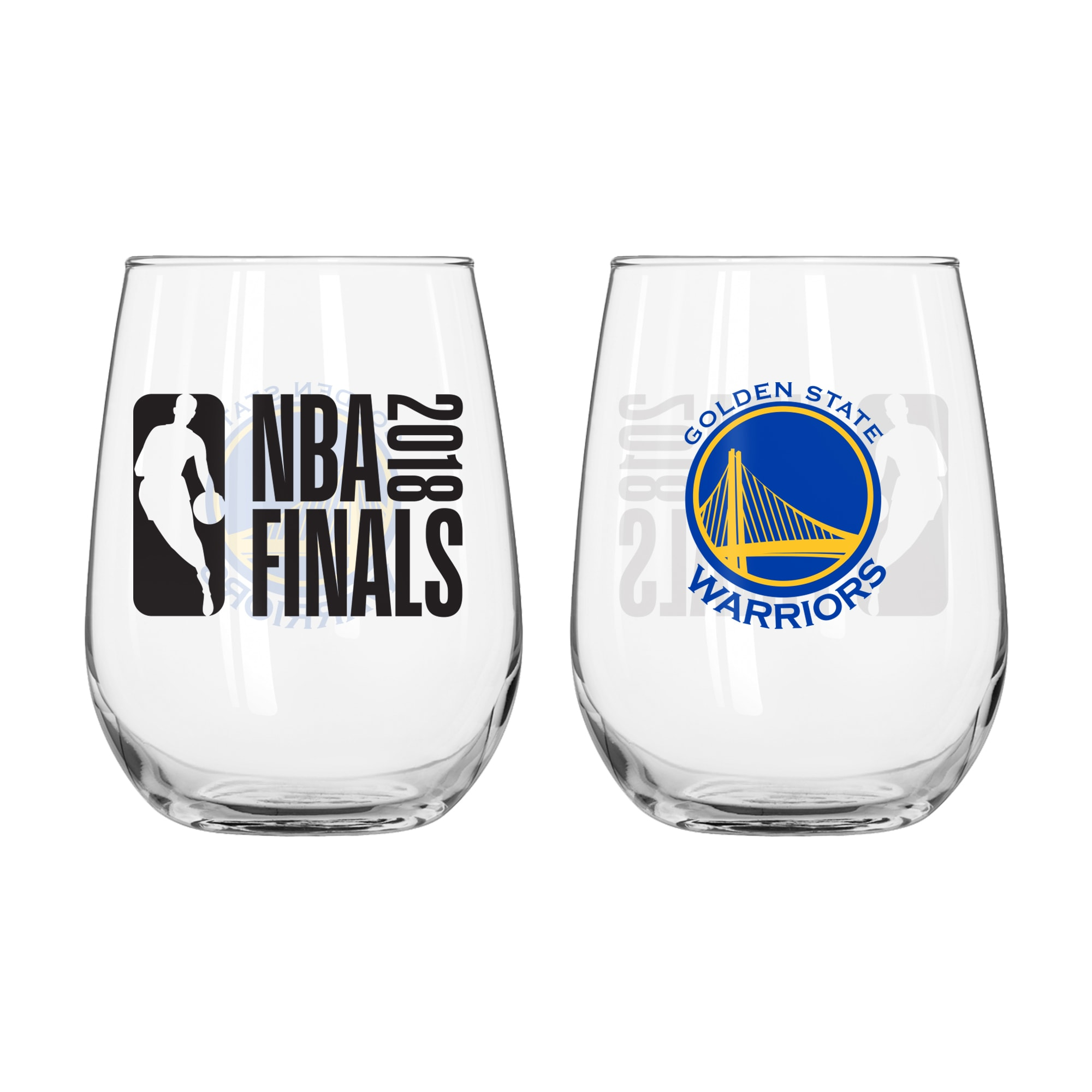 Golden State Warriors 2018 NBA Finals Bound 16oz. Stemless Wine Glass