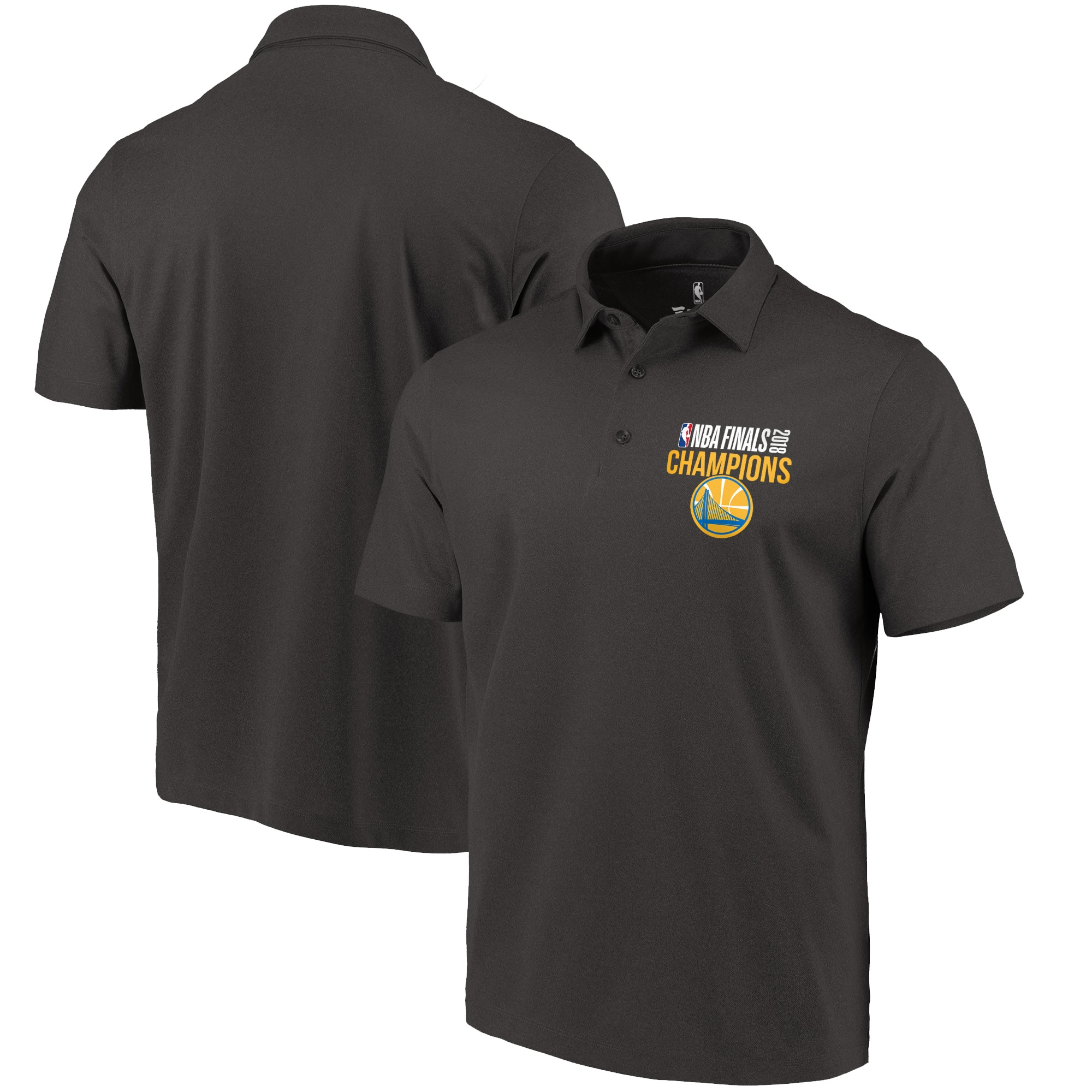 Golden State Warriors Fanatics Branded 2018 NBA Finals Champions Domeshots Made to Move Performance Polo - Black