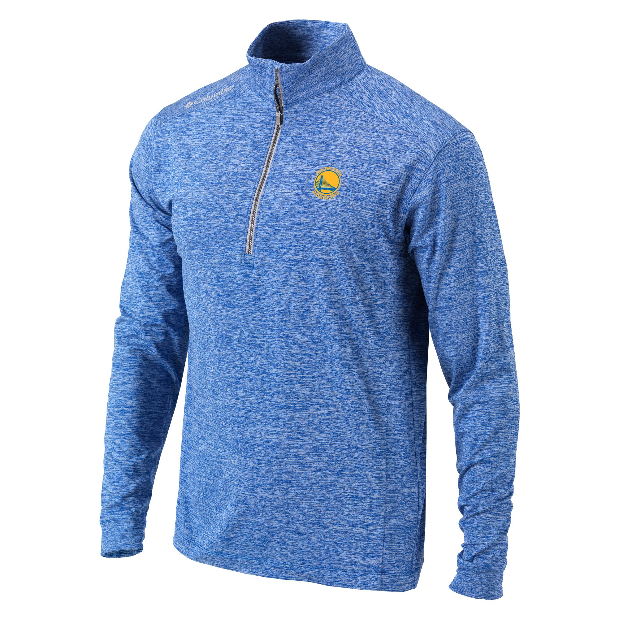 Golden State Warriors Columbia Omni-Wick Power Fade Half-Zip Jacket - Blue