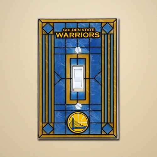 Golden State Warriors Art Glass Switch Cover