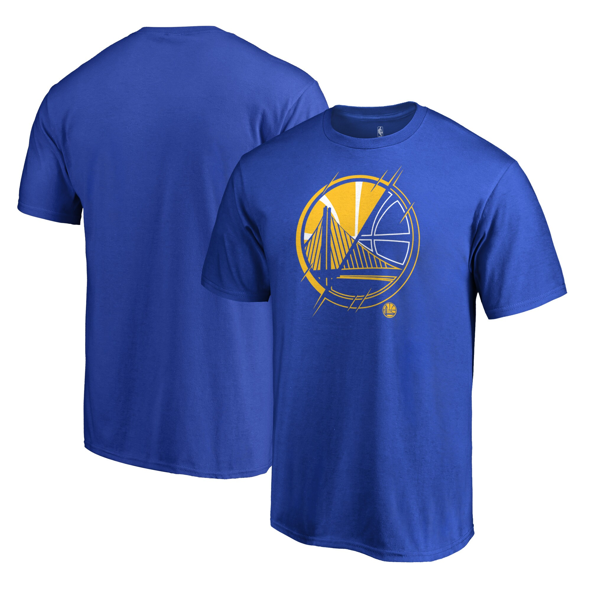 Golden State Warriors Fanatics Branded X-Ray Big and Tall T-Shirt - Blue