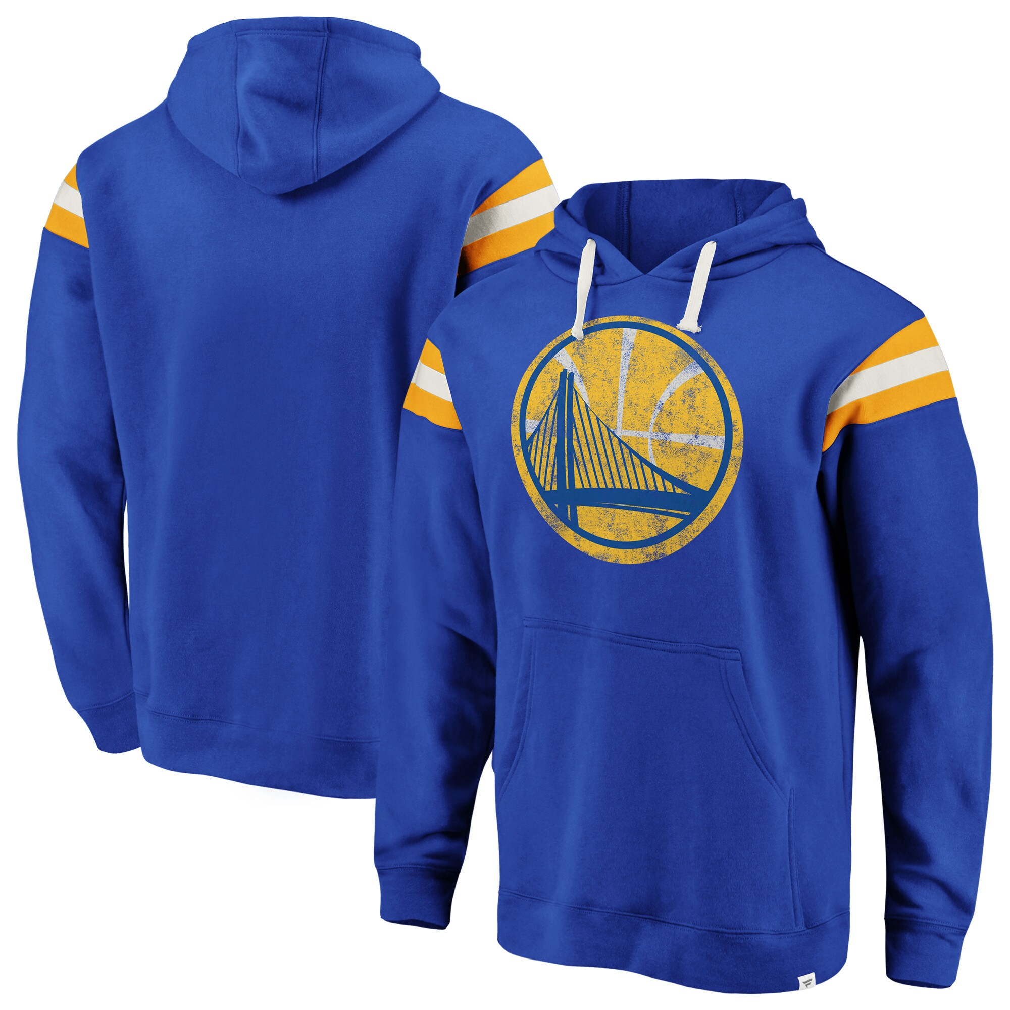 Golden State Warriors Fanatics Branded Big & Tall True Classic Vintage Retro Stripe Pullover Hoodie - Royal