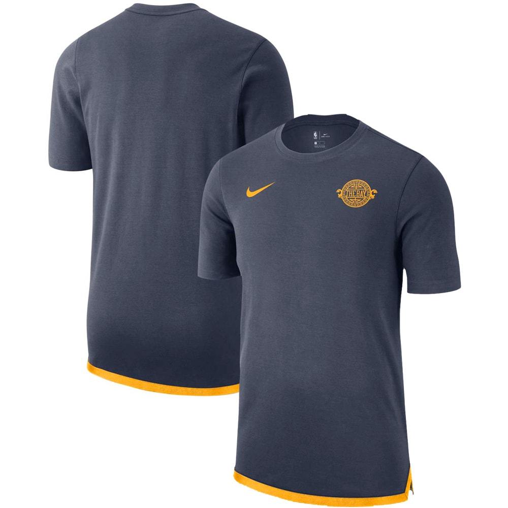 Golden State Warriors Nike City Edition Heavyweight DNA Essential T-Shirt - Blue
