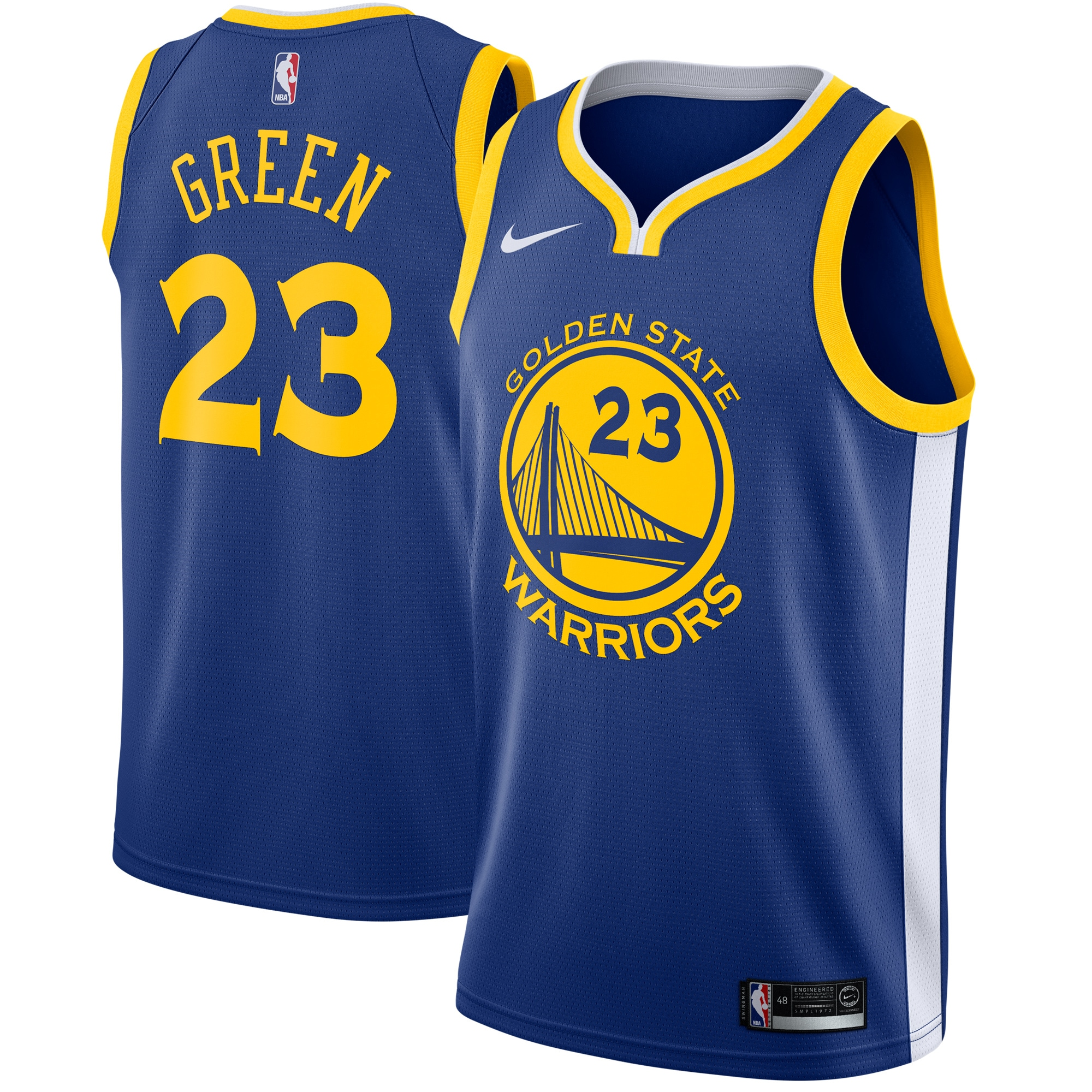Draymond Green Golden State Warriors Nike Swingman Jersey Blue - Icon Edition