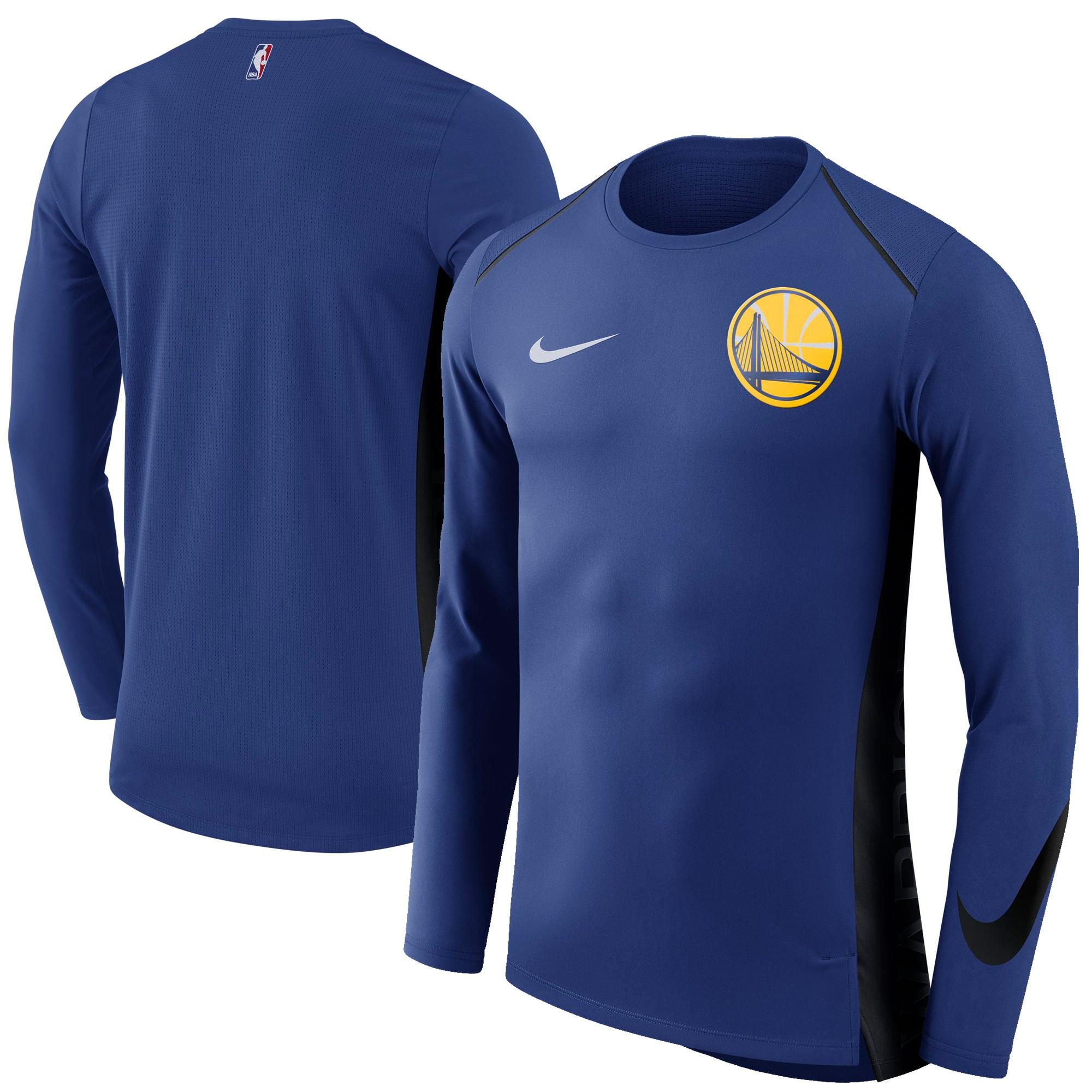 Golden State Warriors Nike Elite Shooter Performance Long Sleeve T-Shirt - Blue