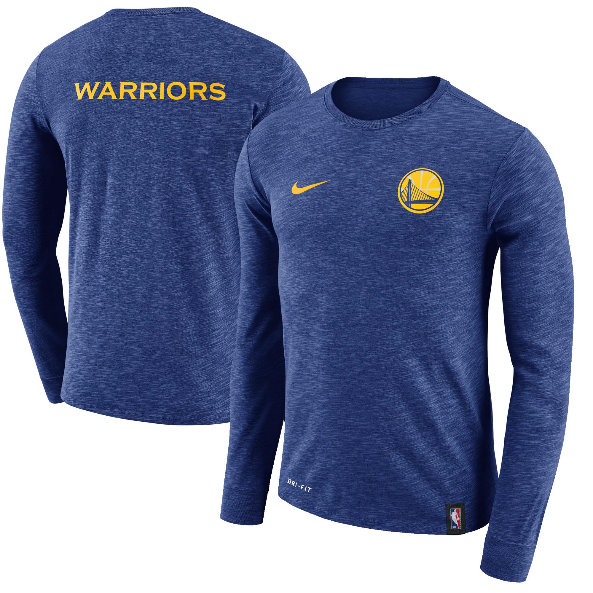 Golden State Warriors Nike Facility Long Sleeve T-Shirt - Royal