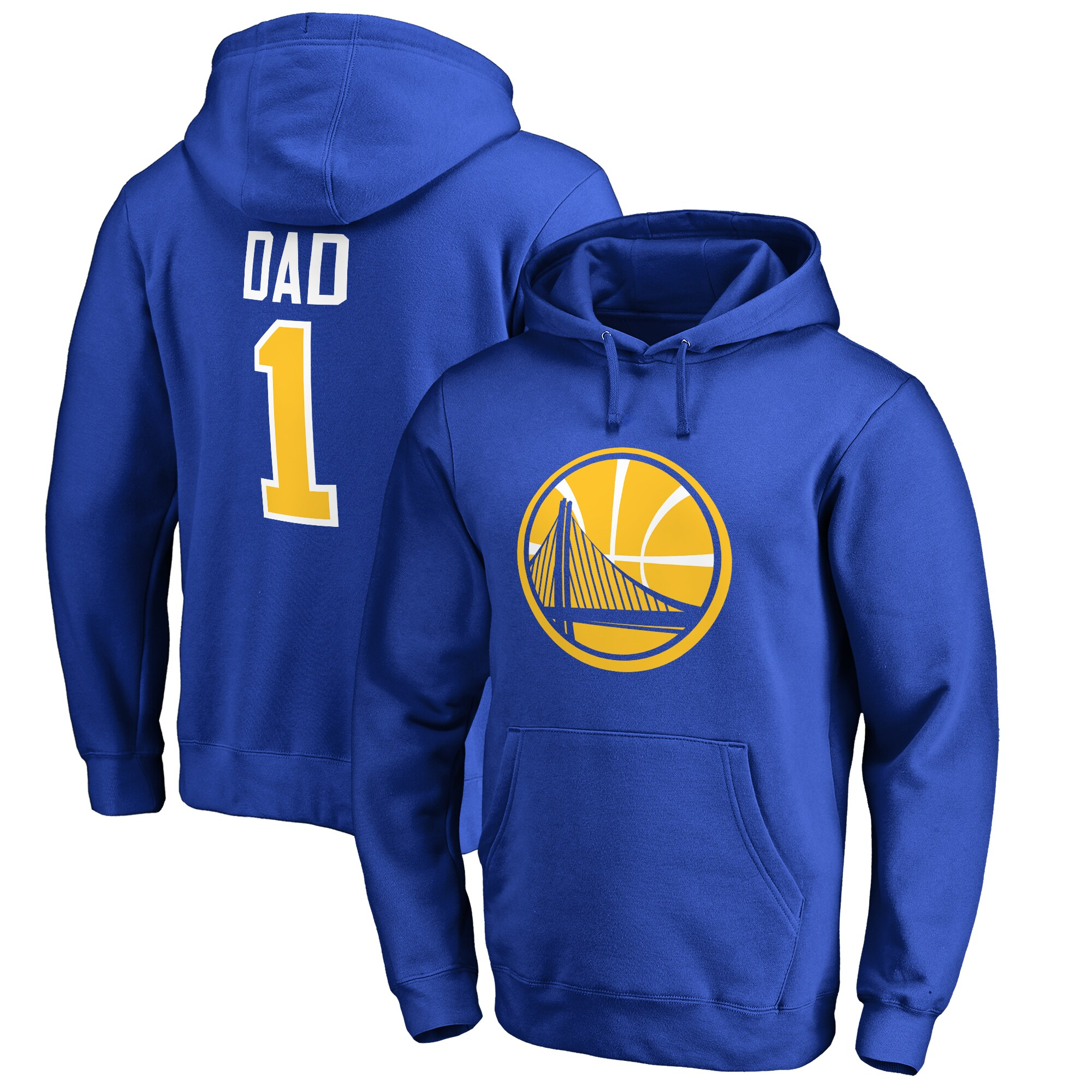 Golden State Warriors Fanatics Branded Big & Tall #1 Dad Pullover Hoodie - Royal