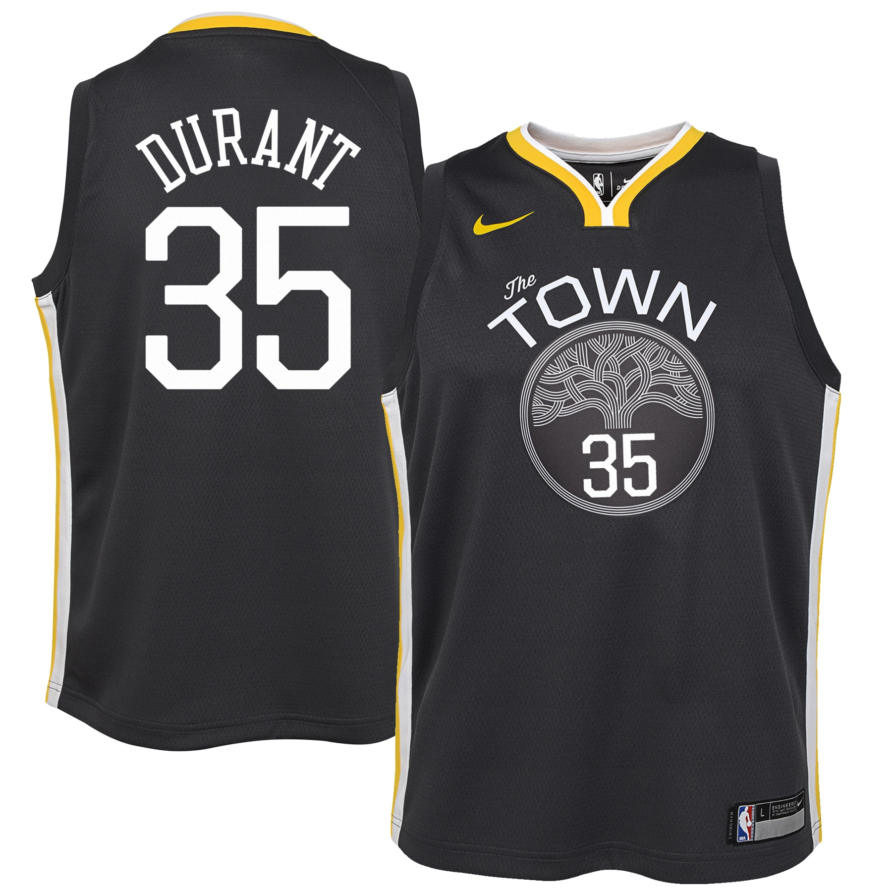 Kevin Durant Golden State Warriors Nike Youth Swingman Jersey Black - Statement Edition