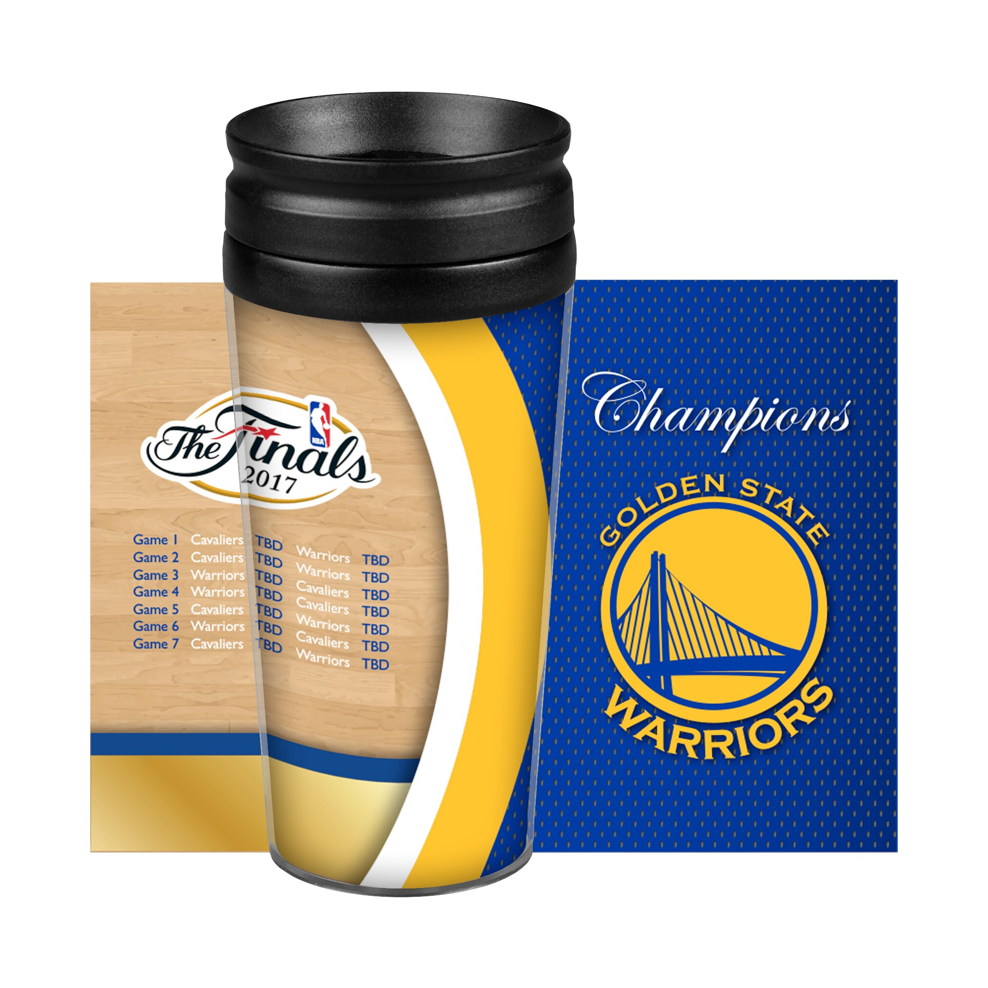 Golden State Warriors 2017 NBA Finals Champions Summary Full Wrap Travel Tumbler