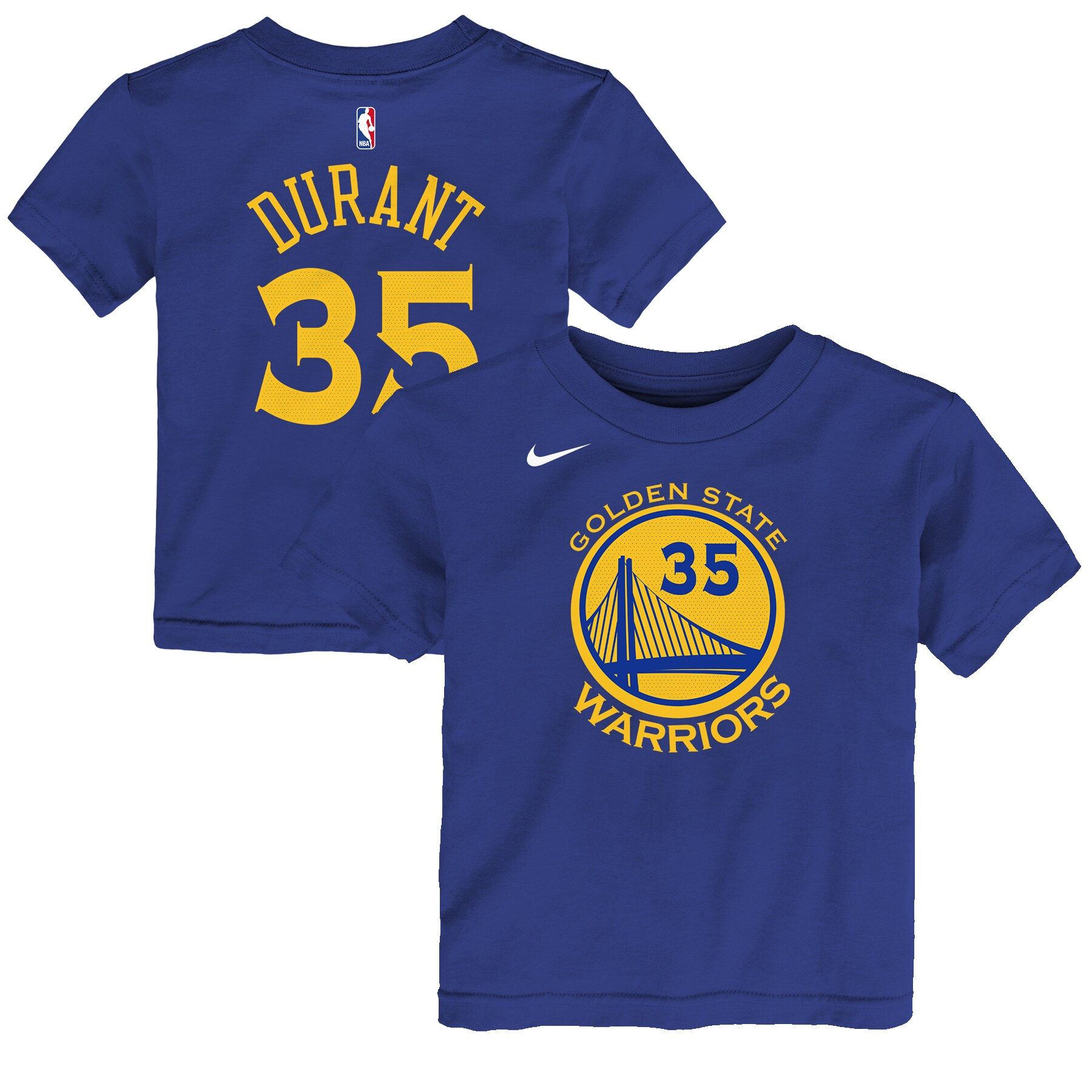 Kevin Durant Golden State Warriors Nike Preschool Name & Number T-Shirt - Blue