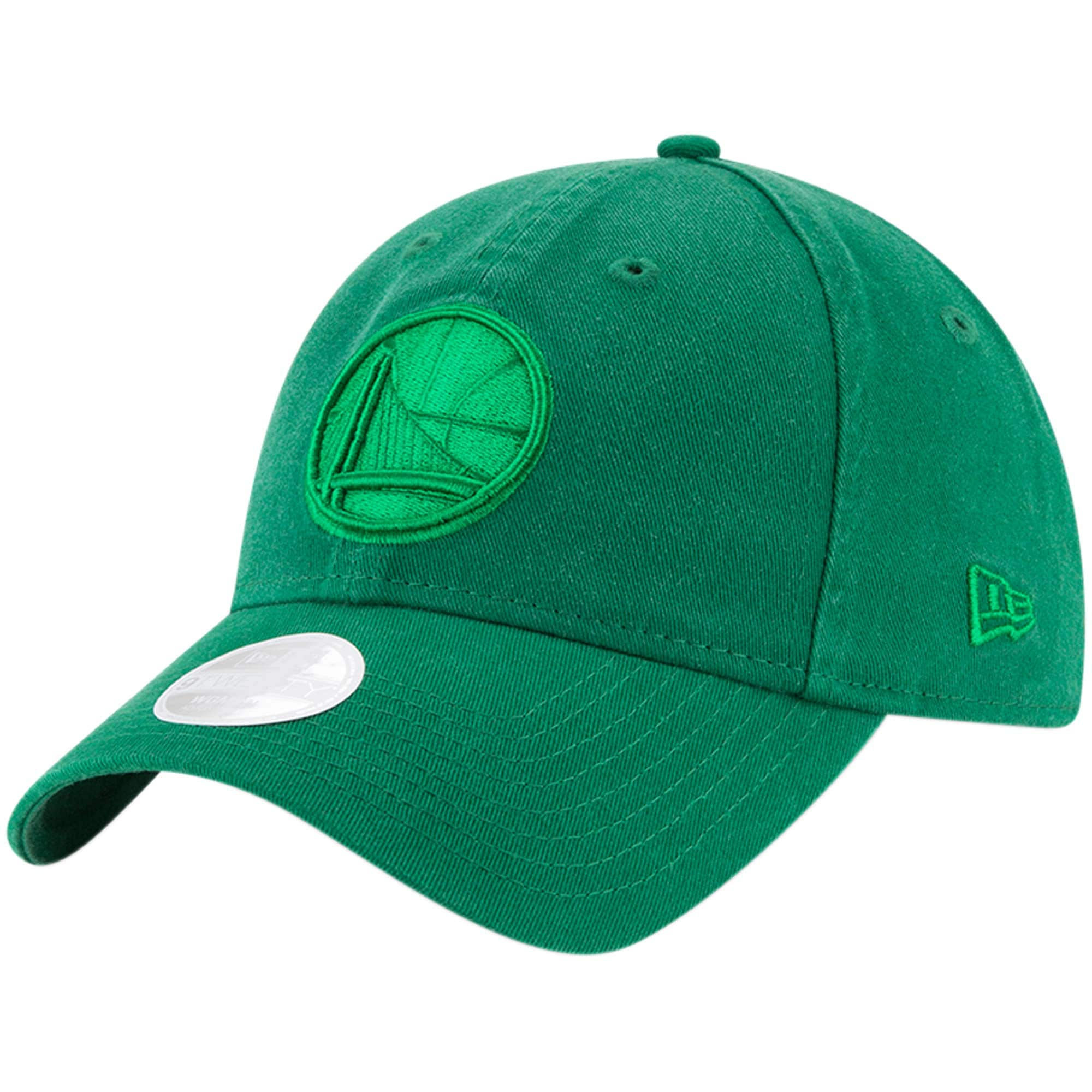 Golden State Warriors New Era Women's St. Patrick's Day Core Classic 9TWENTY Adjustable Hat - Kelly Green