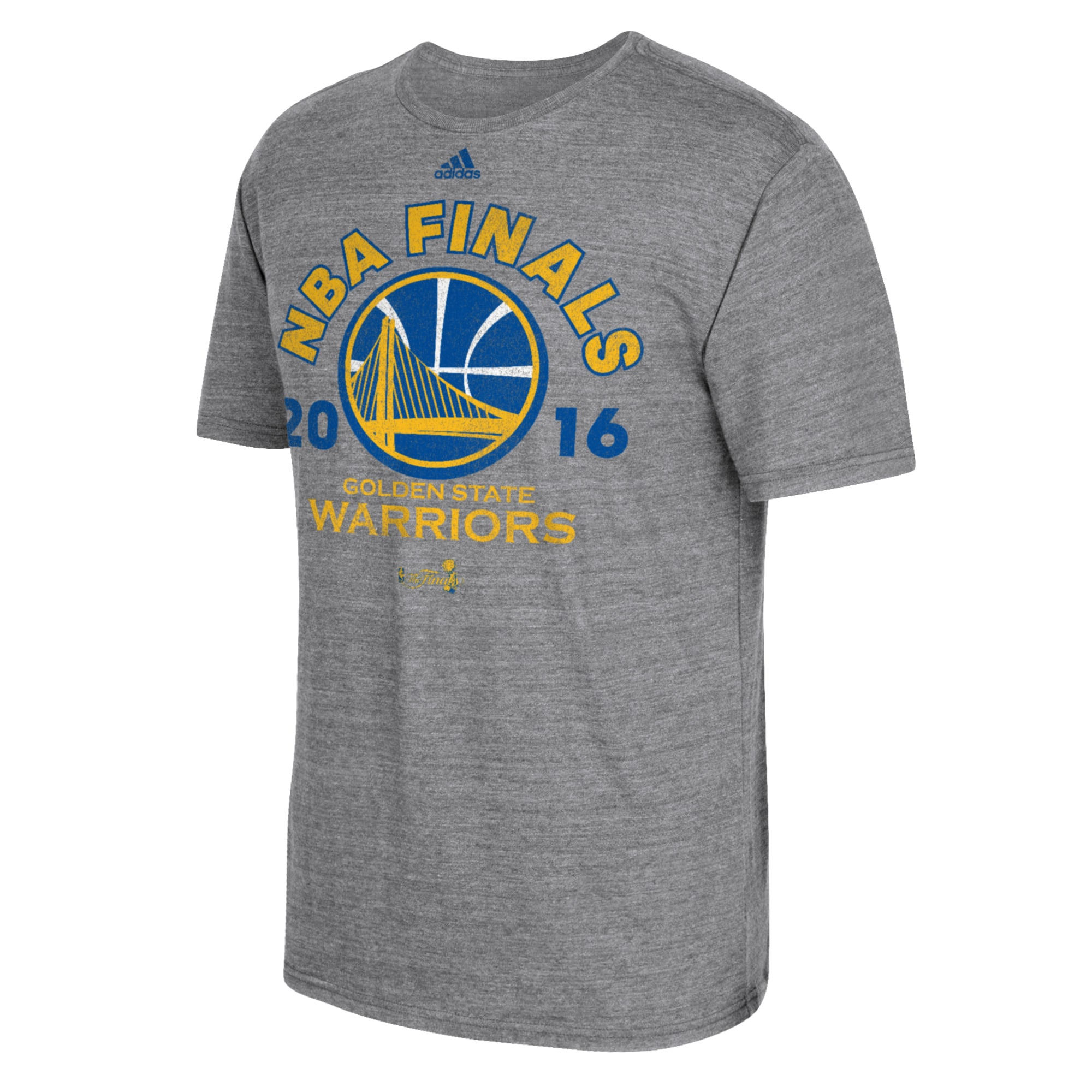 Golden State Warriors adidas 2016 NBA Finals Bound Tri-Blend T-Shirt - Gray