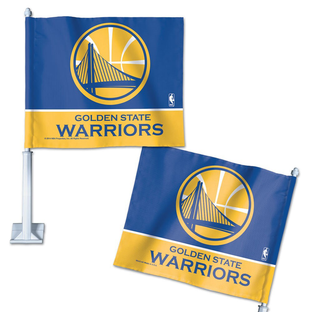 "Golden State Warriors WinCraft 11"" x 13"" Double-Sided Car Flag"