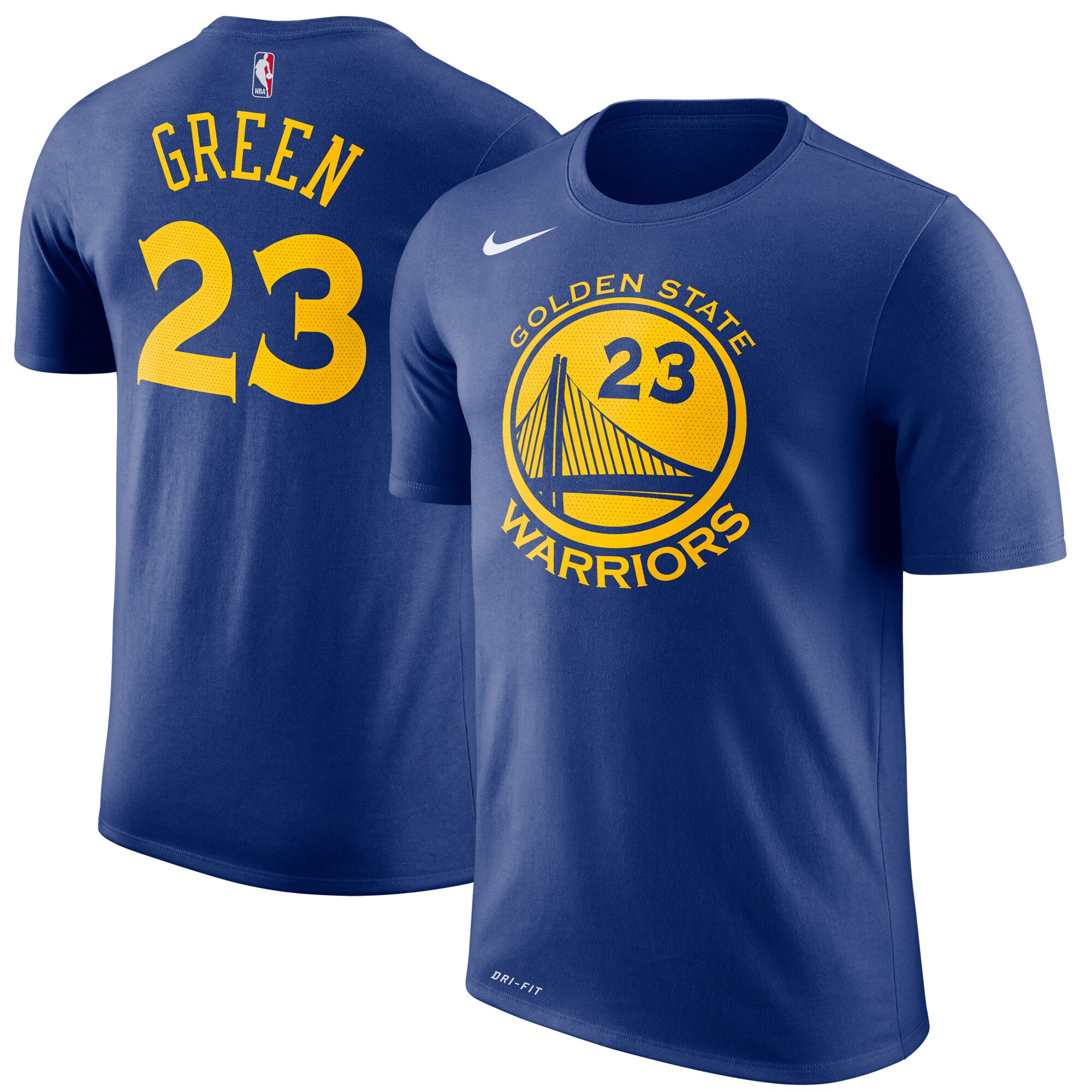 Draymond Green Golden State Warriors Nike Name & Number Performance T-Shirt - Royal