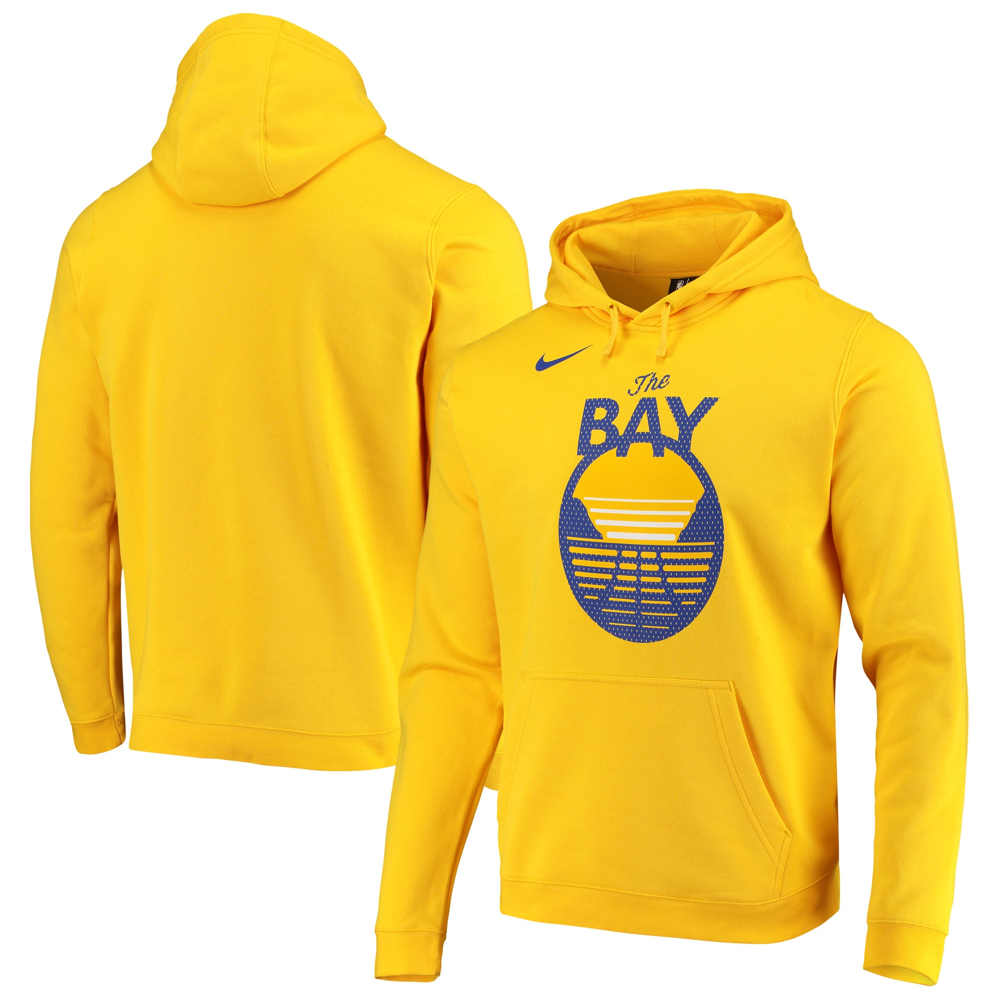 Golden State Warriors Nike 2019/20 Statement Edition Club Pullover Hoodie - Gold