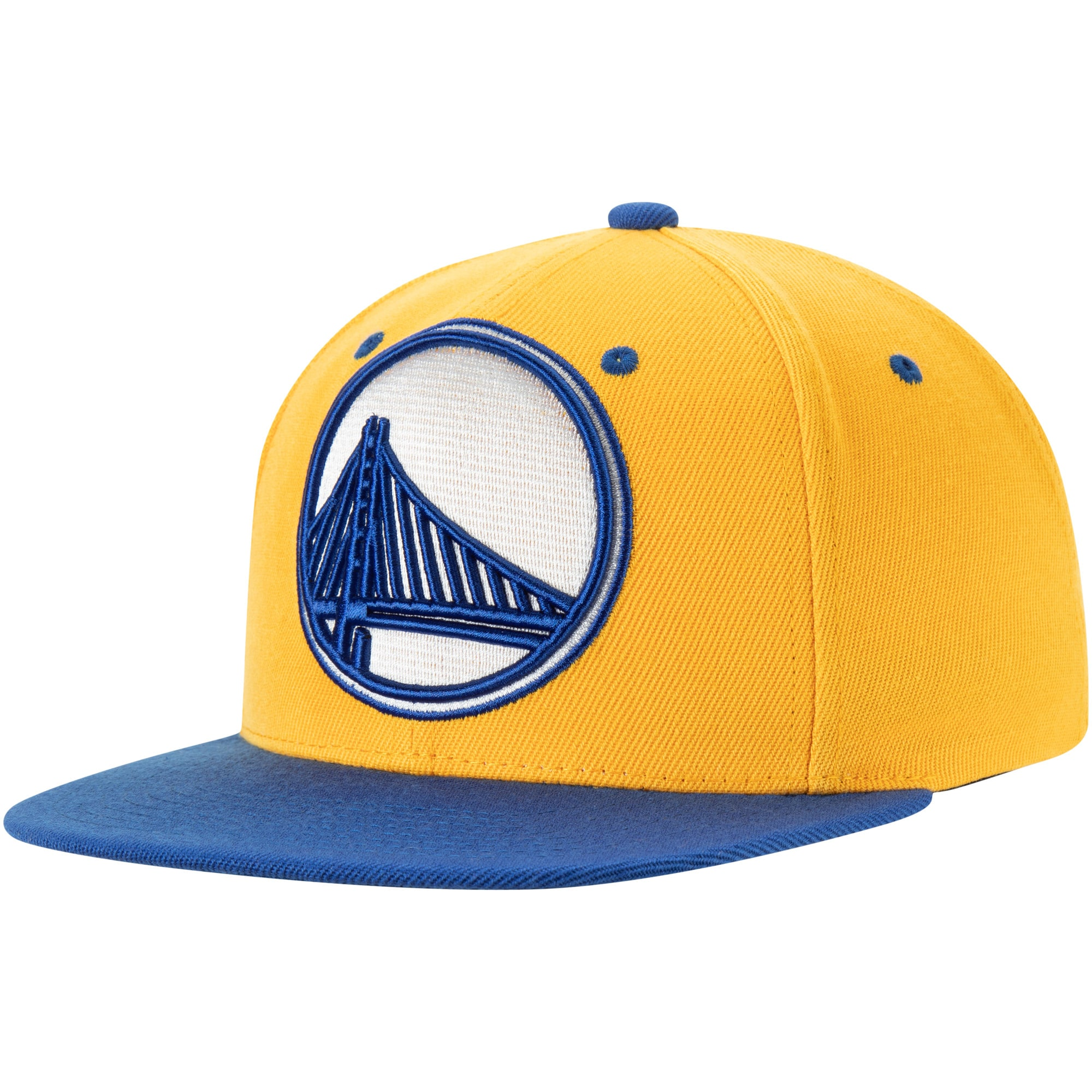 Golden State Warriors Mitchell & Ness XL Pop Team Adjustable Snapback Hat - Gold/Royal