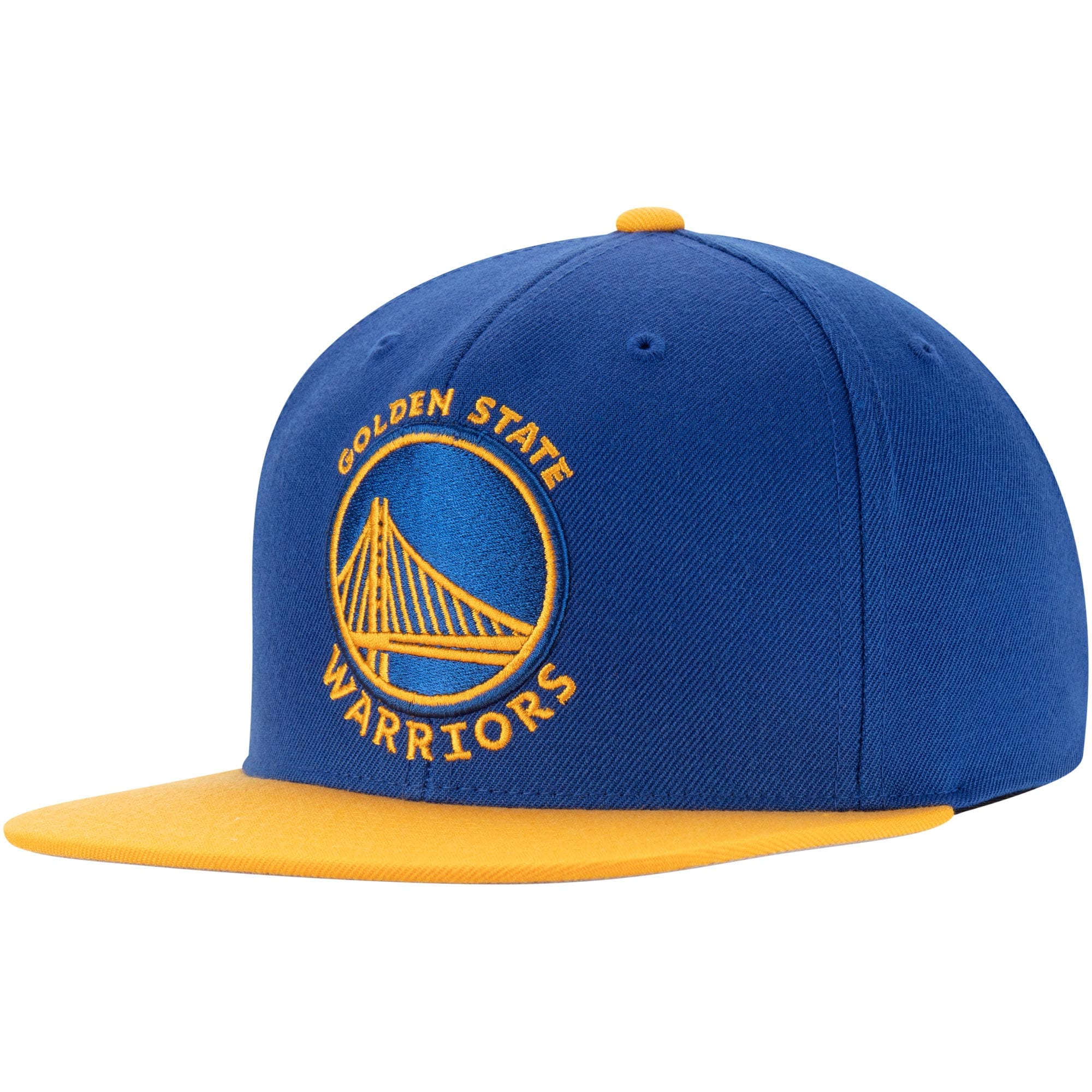 Golden State Warriors Mitchell & Ness Two-Tone Wool Snapback Hat - Royal/Gold