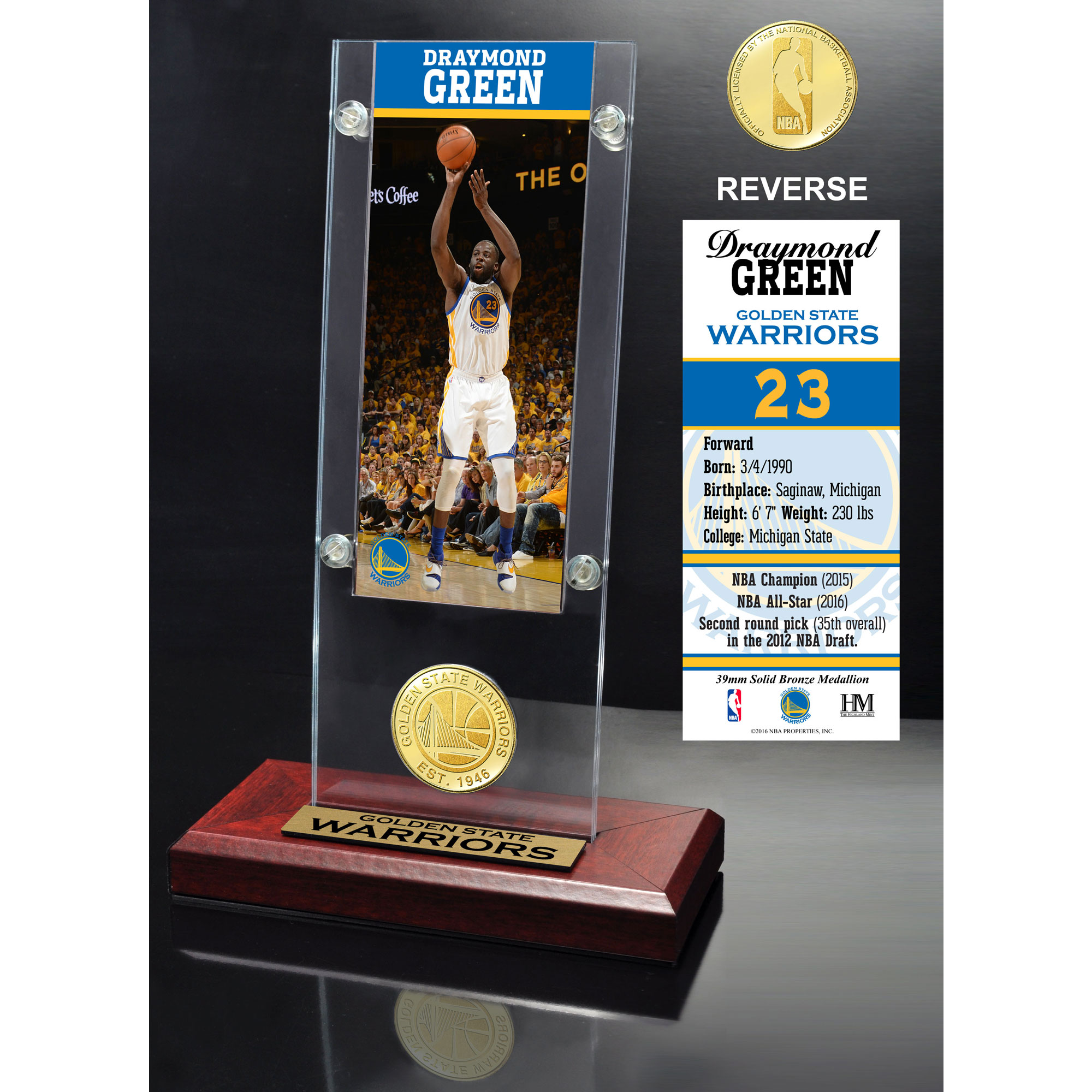 Draymond Green Golden State Warriors Highland Mint Player Ticket Acrylic