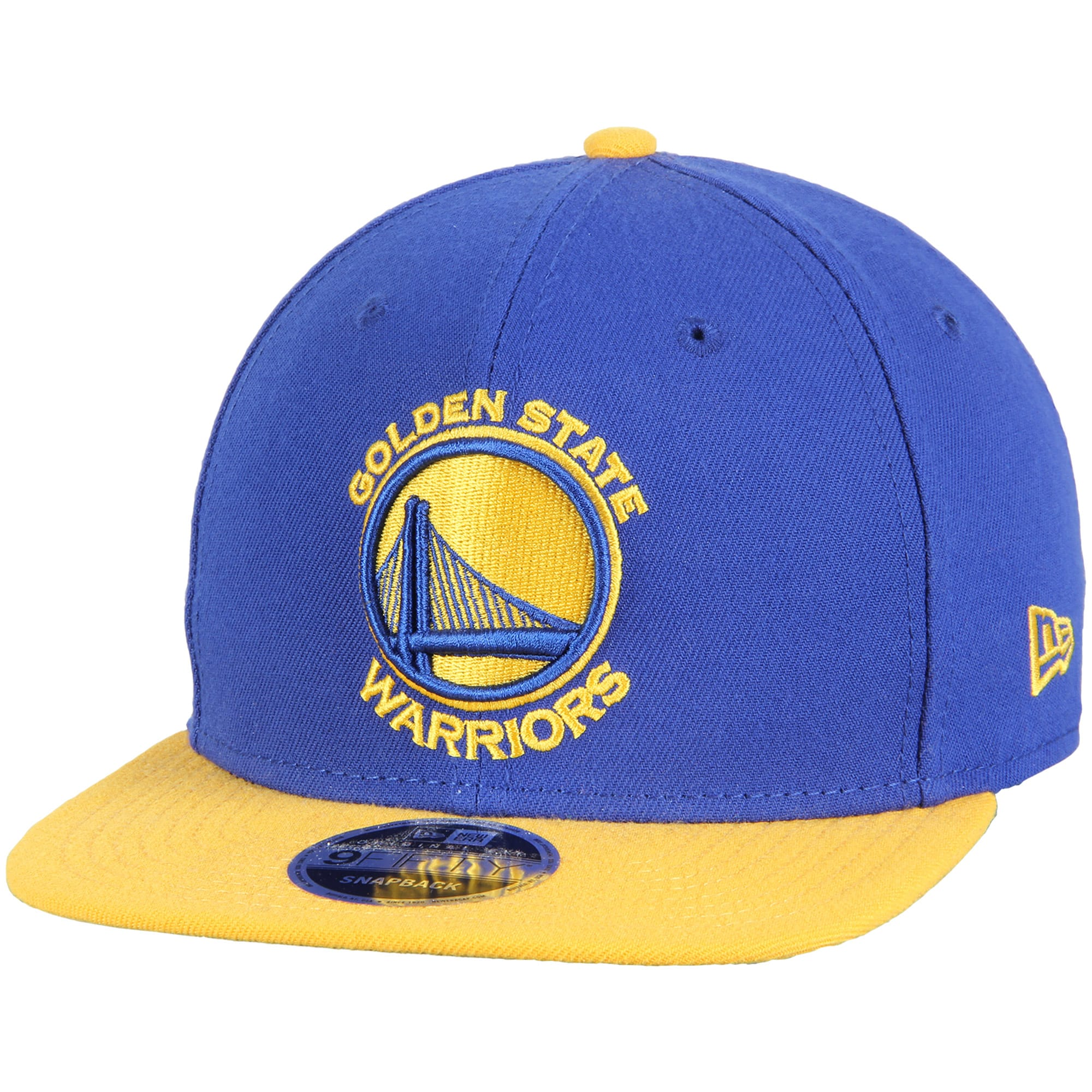 Golden State Warriors New Era 2-Tone Original Fit 9FIFTY Adjustable Snapback Hat - Royal/Gold
