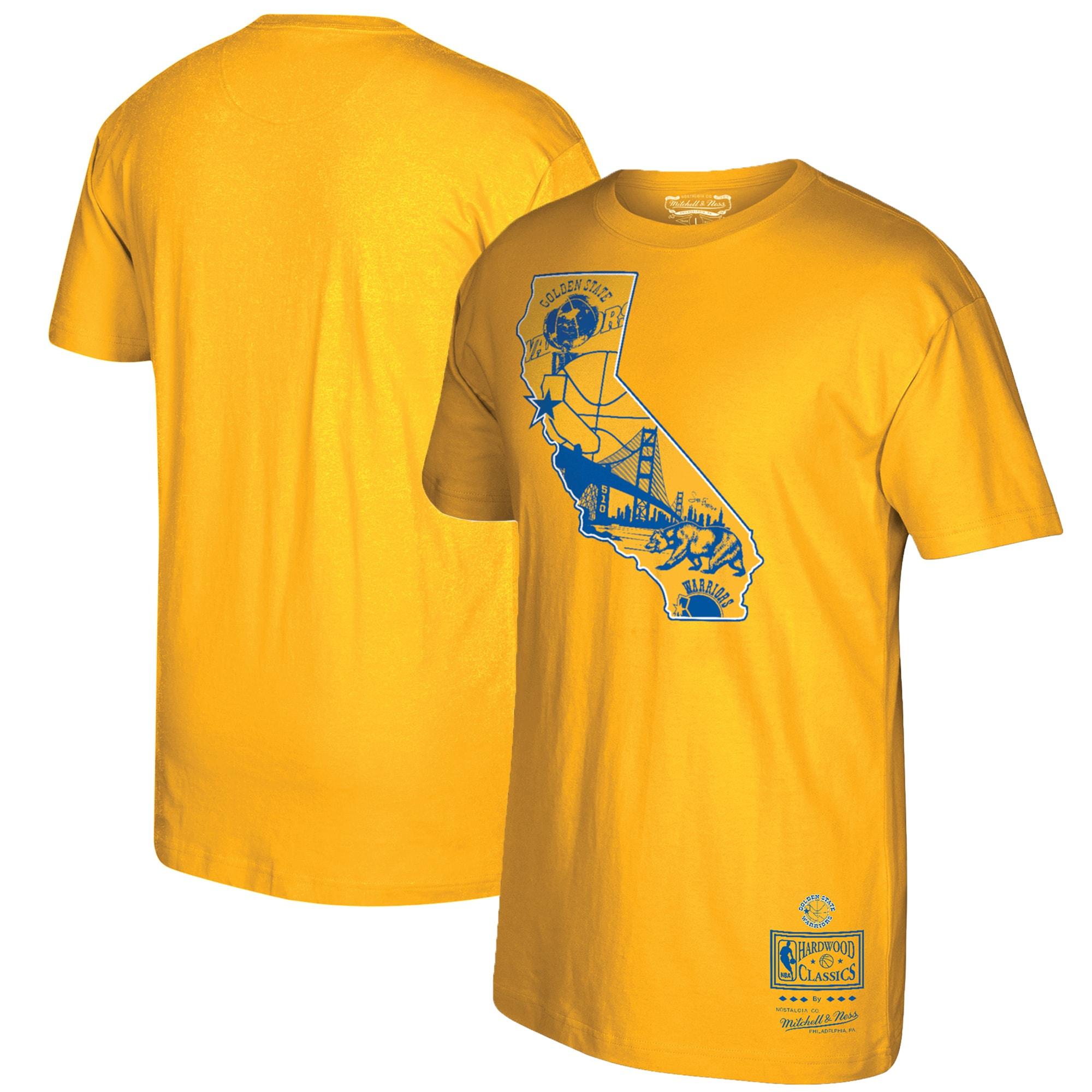 Golden State Warriors Mitchell & Ness Best Coast Hometown T-Shirt - Gold