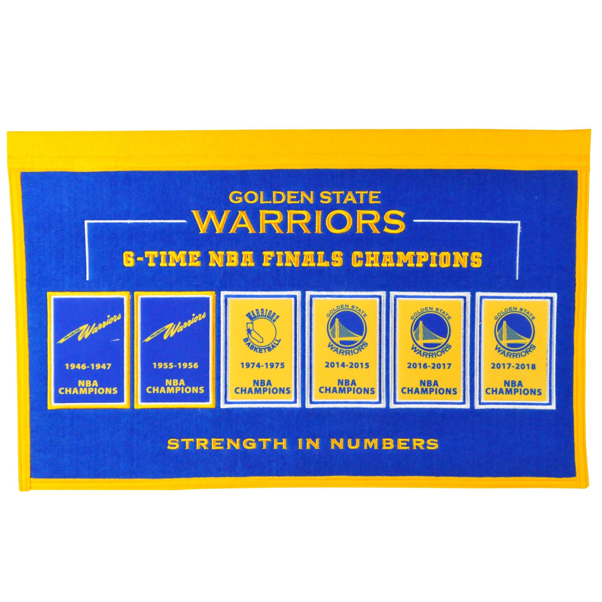 Golden State Warriors 22'' x 14'' Rafter Raiser Banner