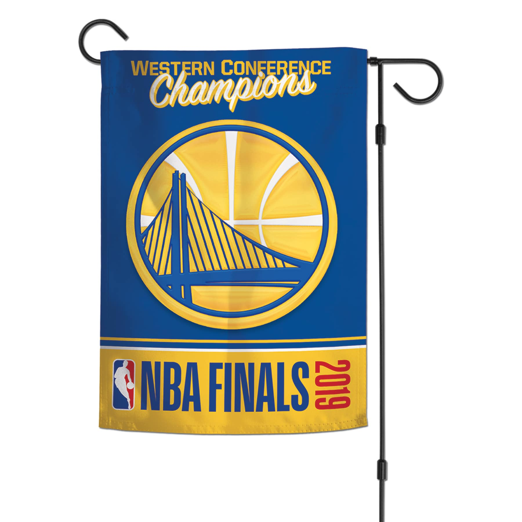 Golden State Warriors WinCraft 2019 Western Conference Champions 2-Sided 12'' x 18'' Garden Flag