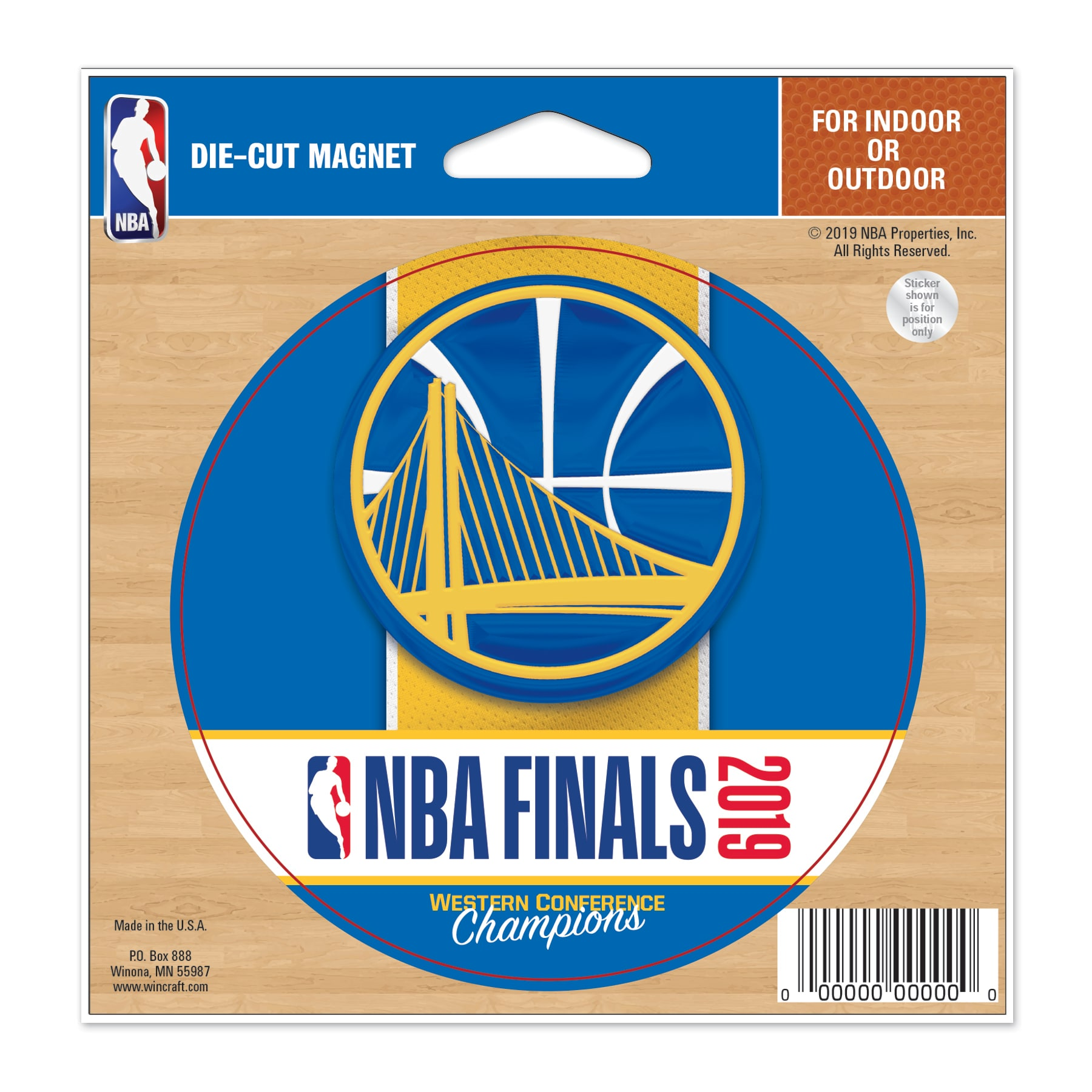 Golden State Warriors WinCraft 2019 Western Conference Champions 4.5'' x 6'' Indoor/Outdoor Magnet