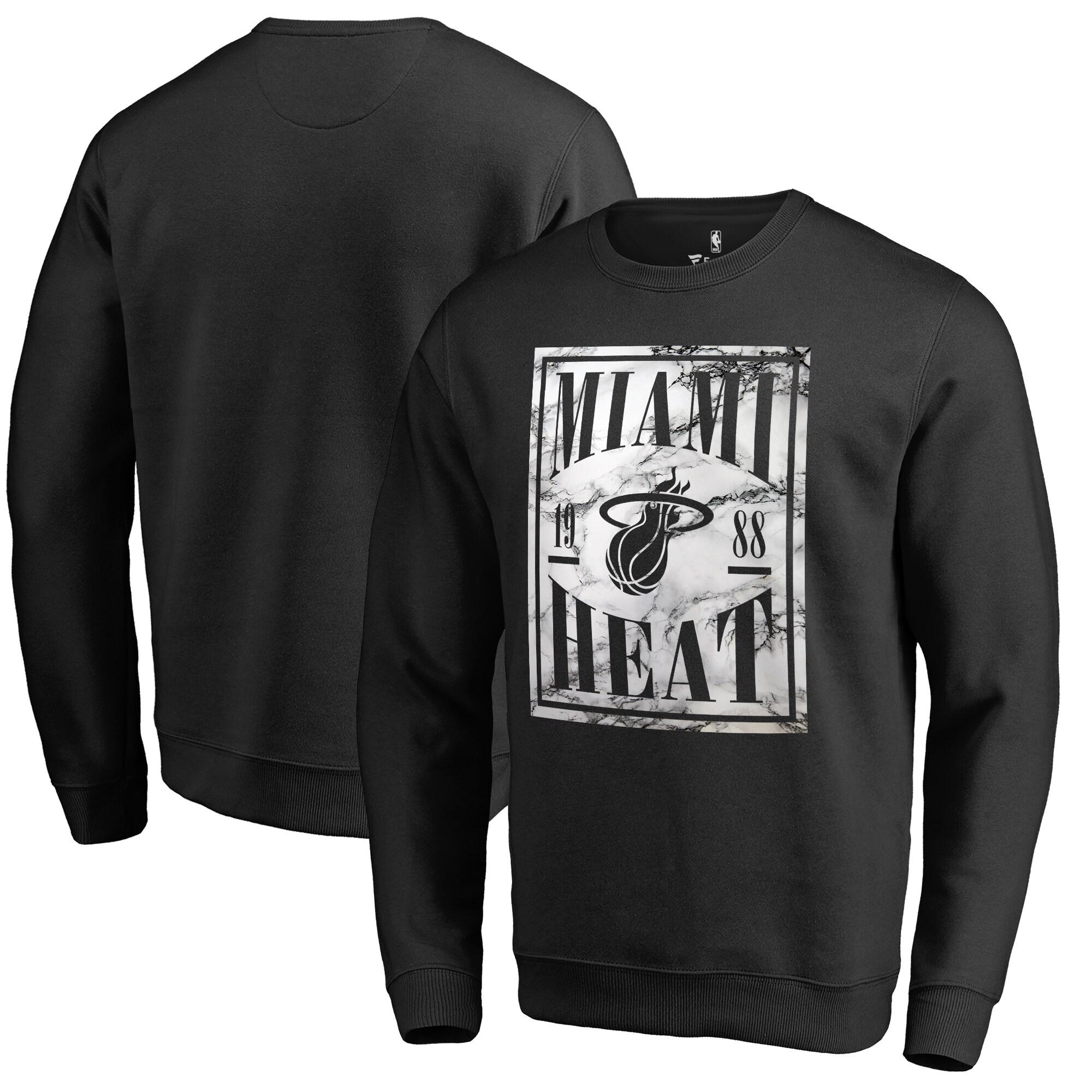 Miami Heat Fanatics Branded Court Vision Crew Sweatshirt - Black