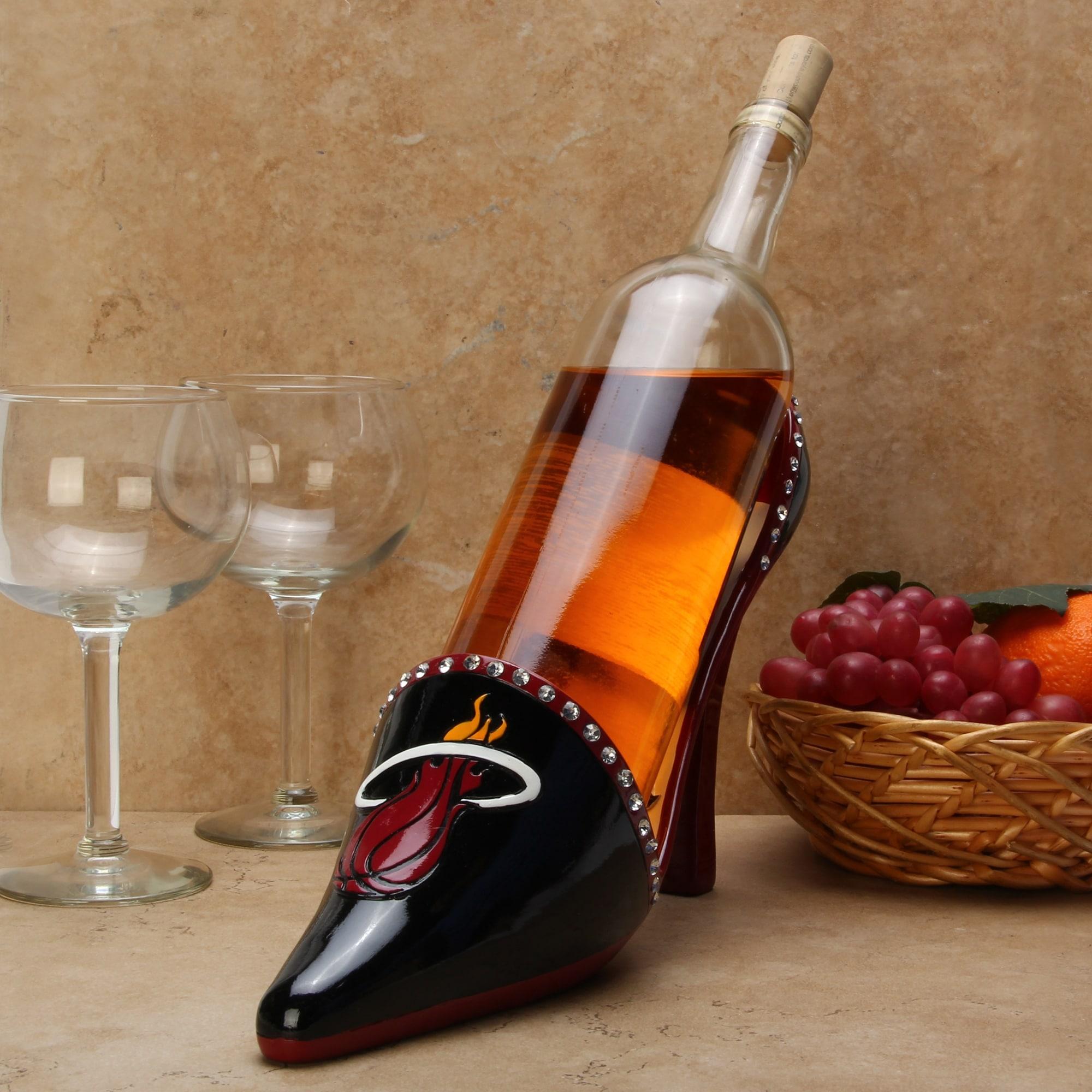 Miami Heat Shoe Wine Bottle Holder