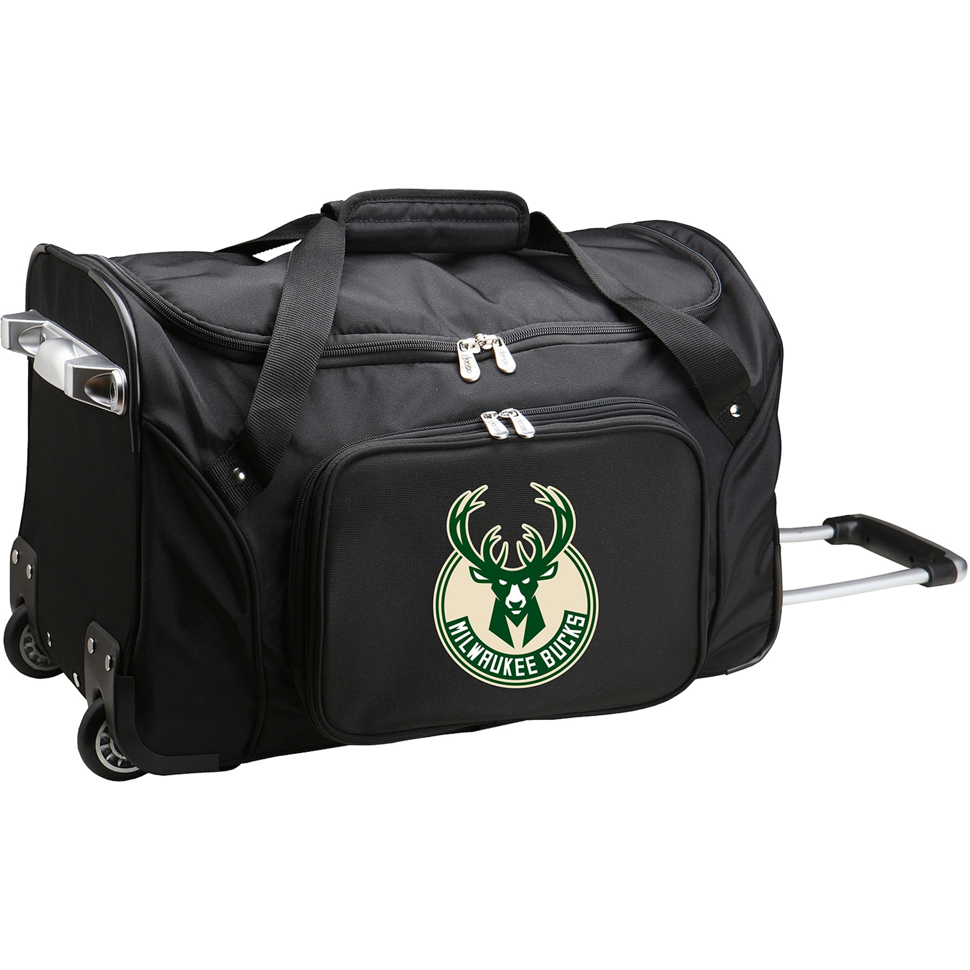 "Milwaukee Bucks 22"" 2-Wheeled Duffel Bag - Black"