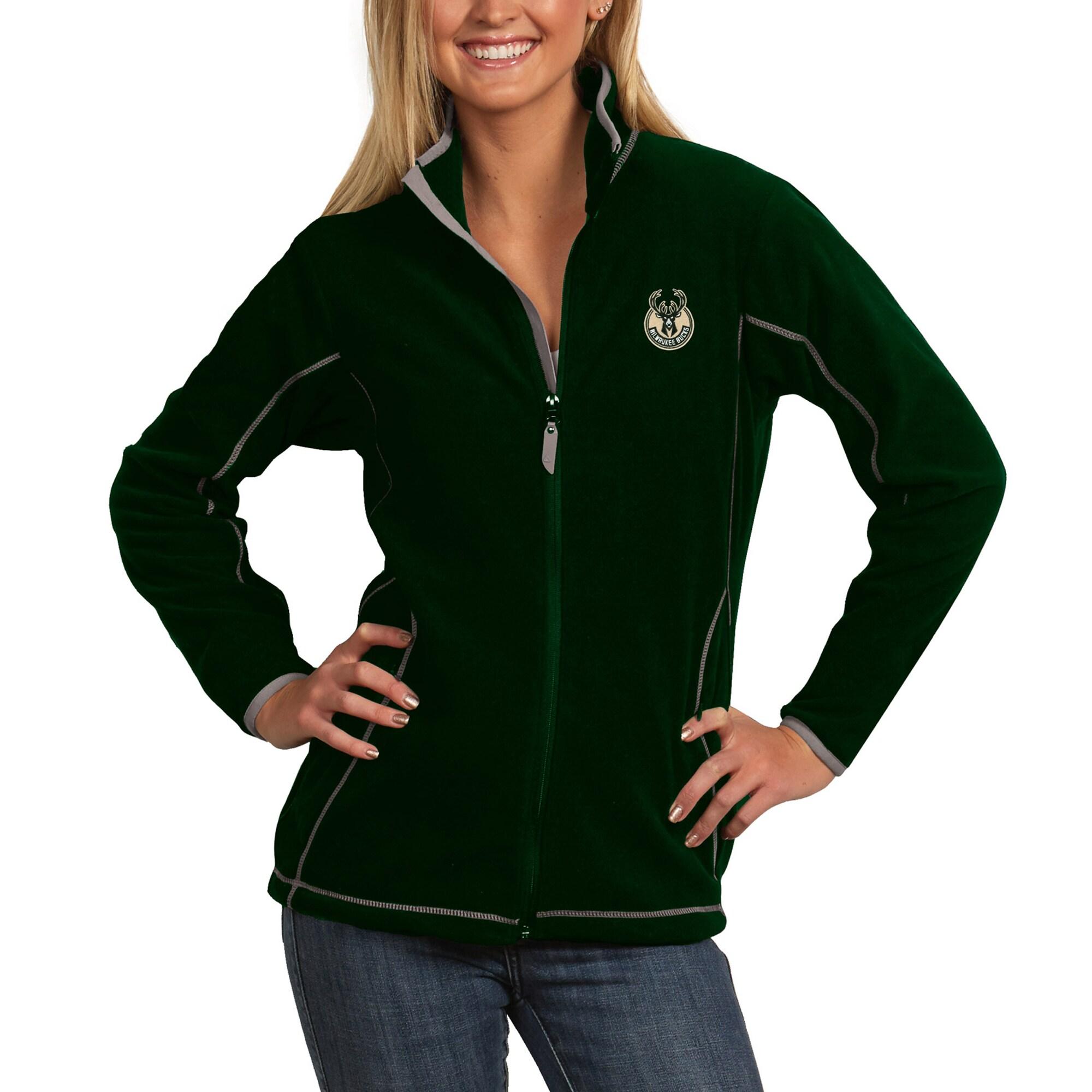 Milwaukee Bucks Antigua Women's Ice Full-Zip Jacket - Green