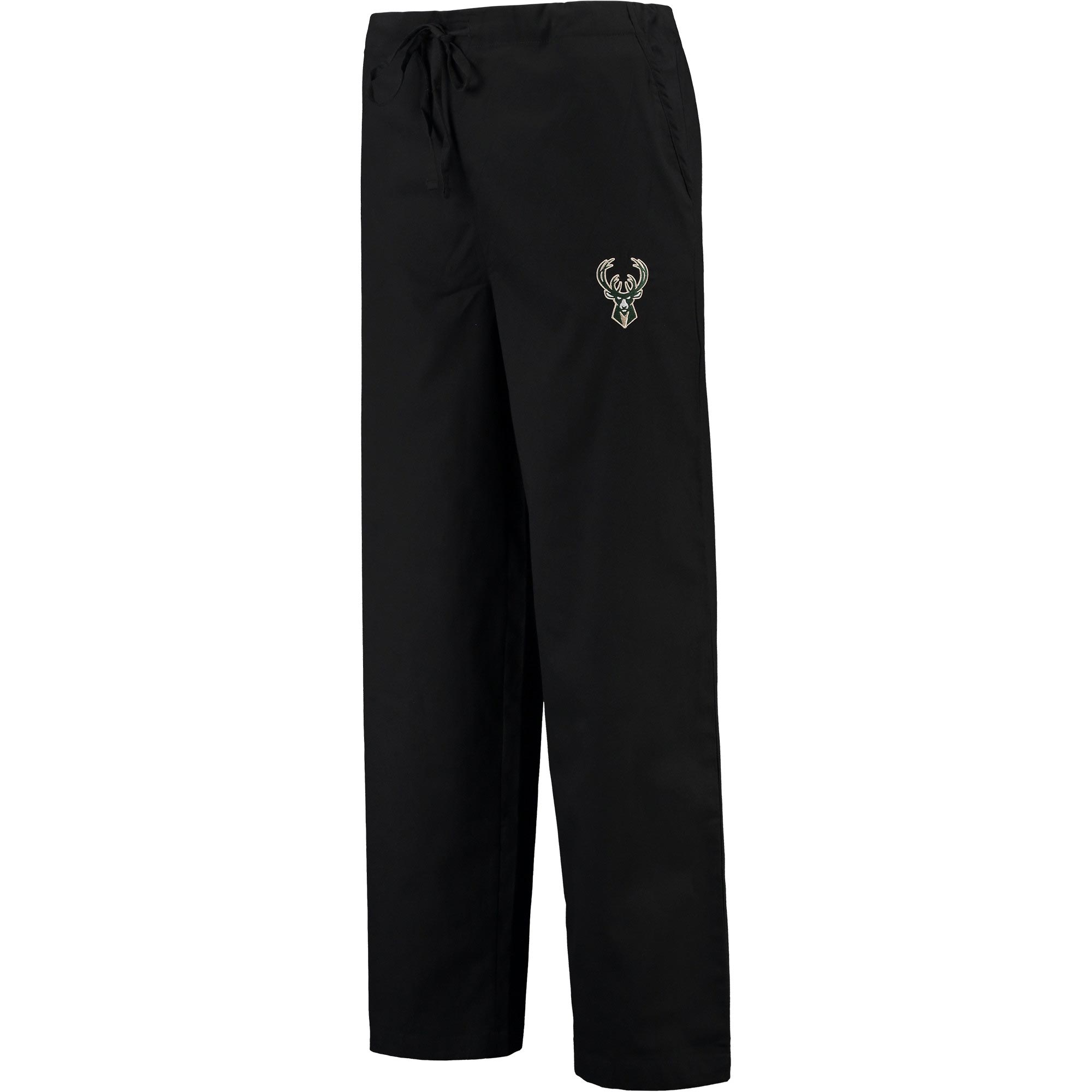 Milwaukee Bucks Concepts Sport Scrub Pants - Black